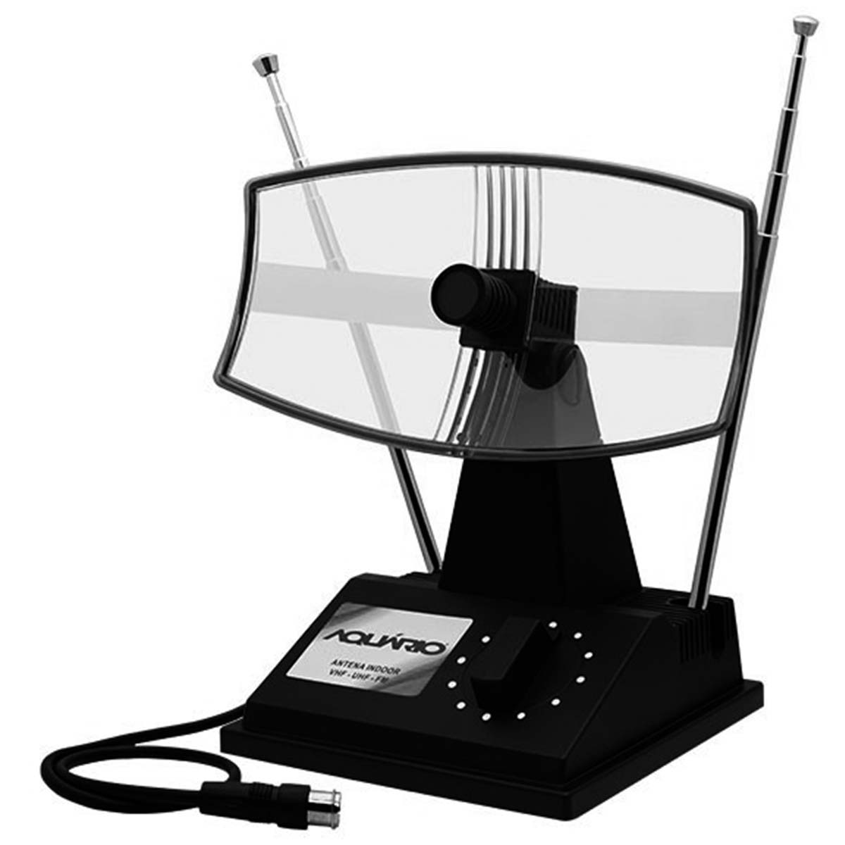 Antena Interna p/ TV VHF / FM / UHF - TV 350 Aquário