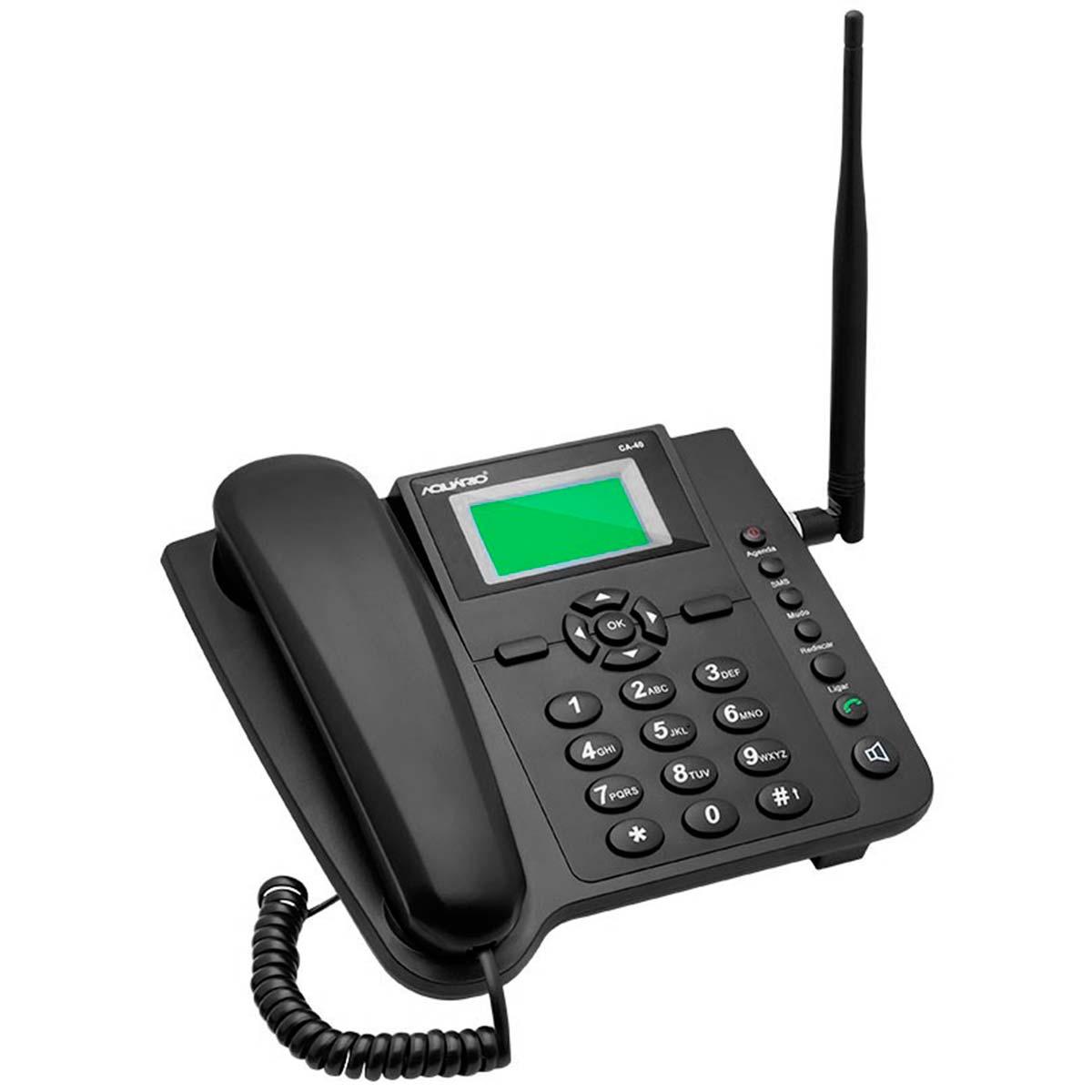 CA40 - Celular de Mesa Quadriband CA 40 Aquário