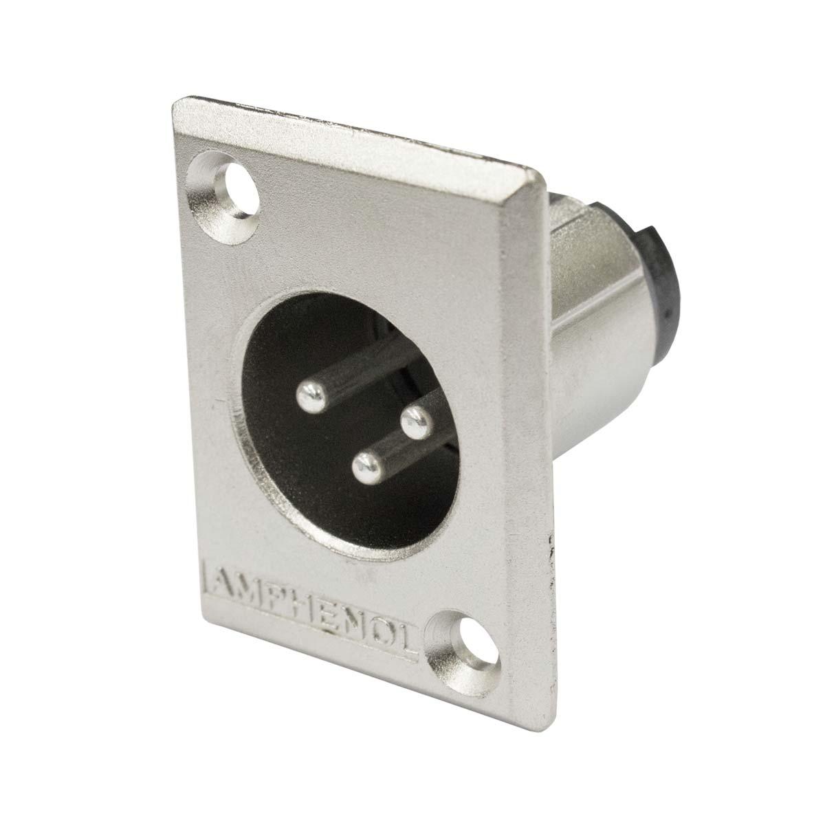 Conector XLR Macho Painel AC3MMP - Amphenol