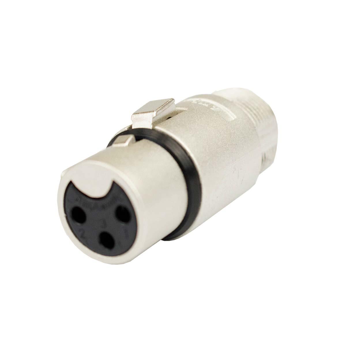 Conector XLR fêmea de linha AC3F Amphenol