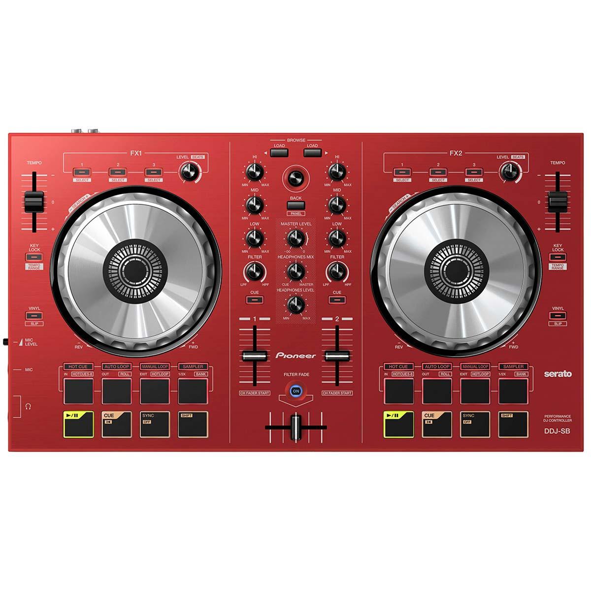 DDJSB - Controladora DJ c/ USB DDJ SB Vermelha - Pioneer