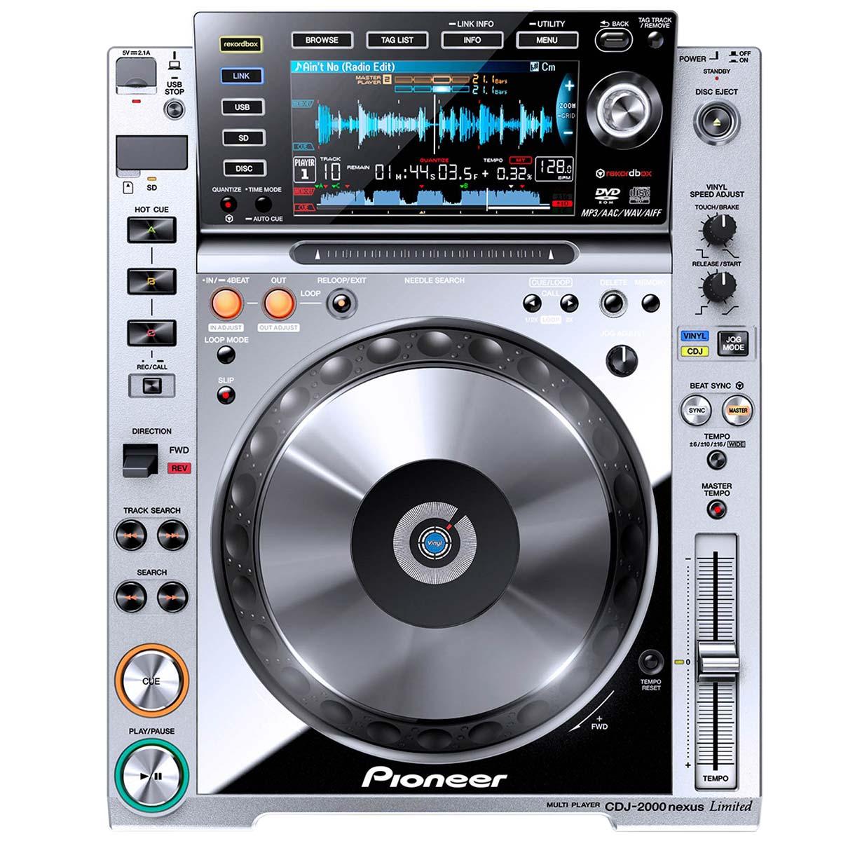 CDJ2000NXS -  CDJ Player c/ USB CDJ 2000 NXS Prata - Pioneer