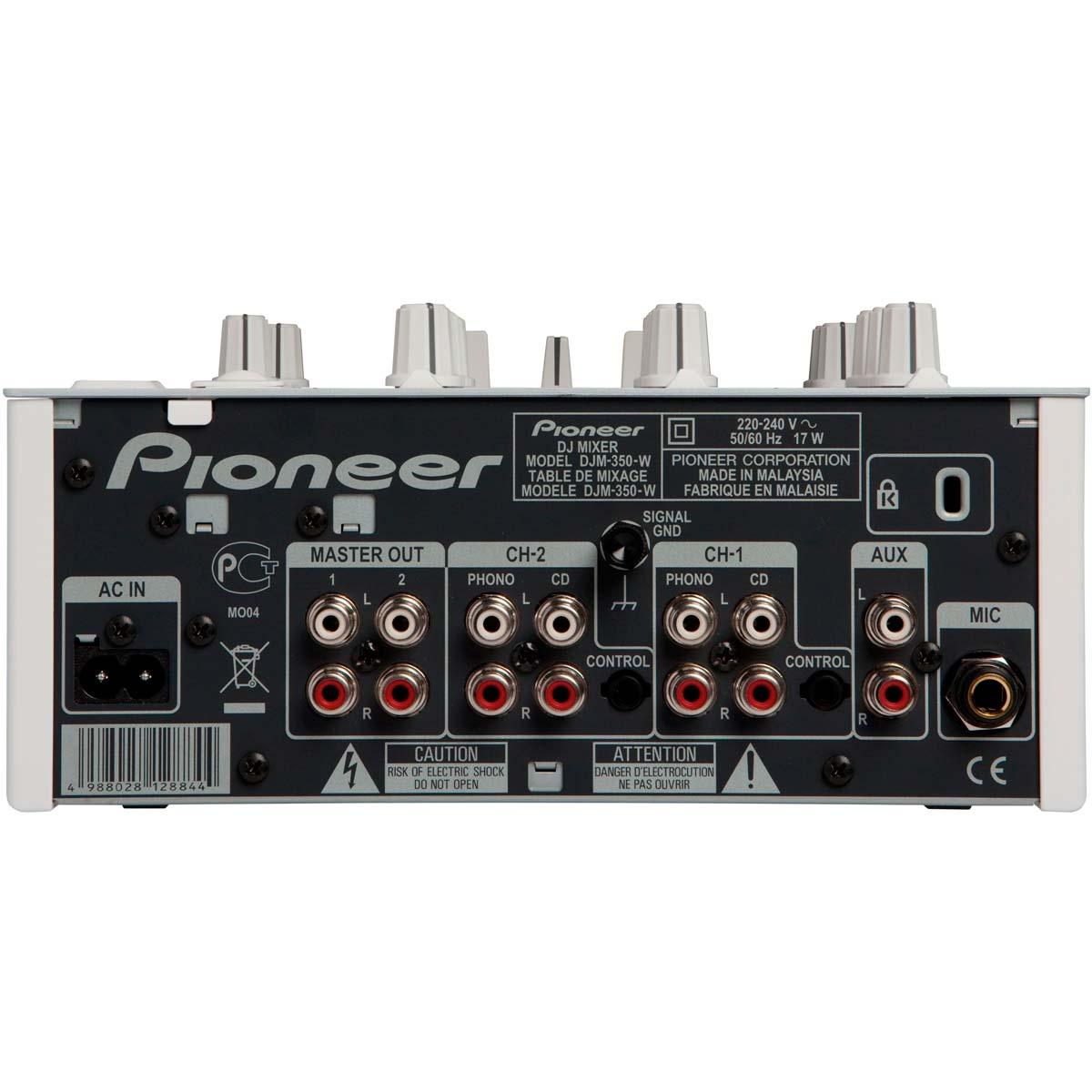 DJM350 - Mixer DJ 2 Canais c/ USB DJM 350 Branco - Pioneer