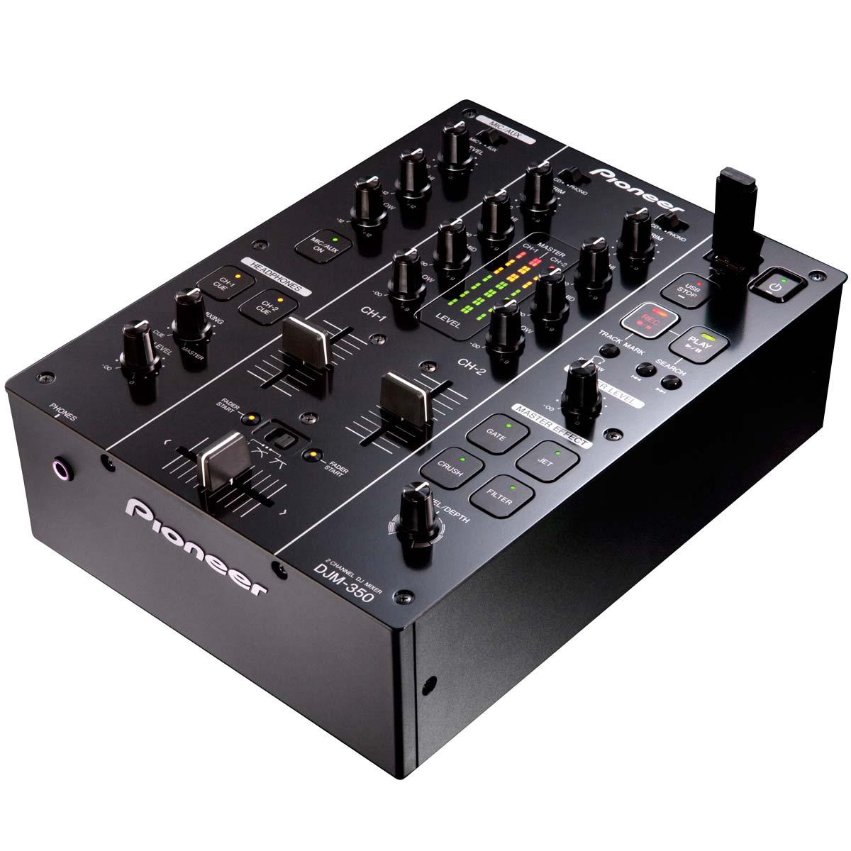 DJM350 - Mixer DJ 2 Canais c/ USB DJM 350 Preto - Pioneer