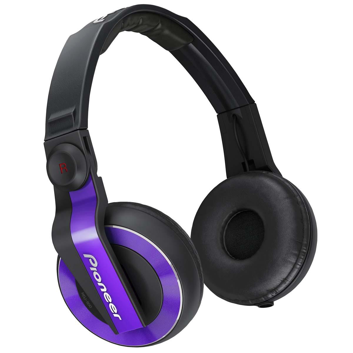 HDJ500 - Fone de Ouvido Over-ear Roxo HDJ 500 - Pioneer