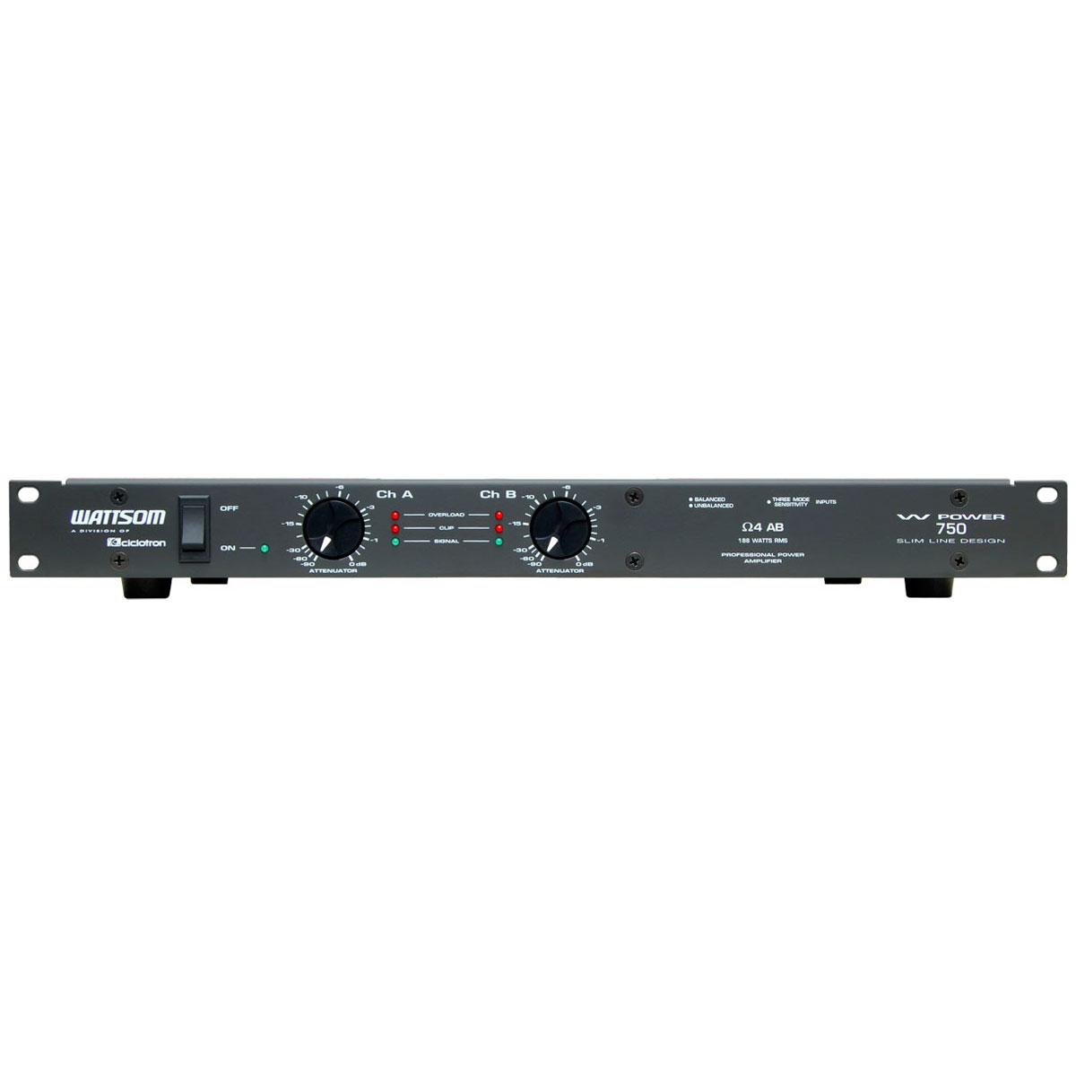 WPOWER750 - Amplificador Estéreo 2 Canais 188W W POWER 750 - Ciclotron