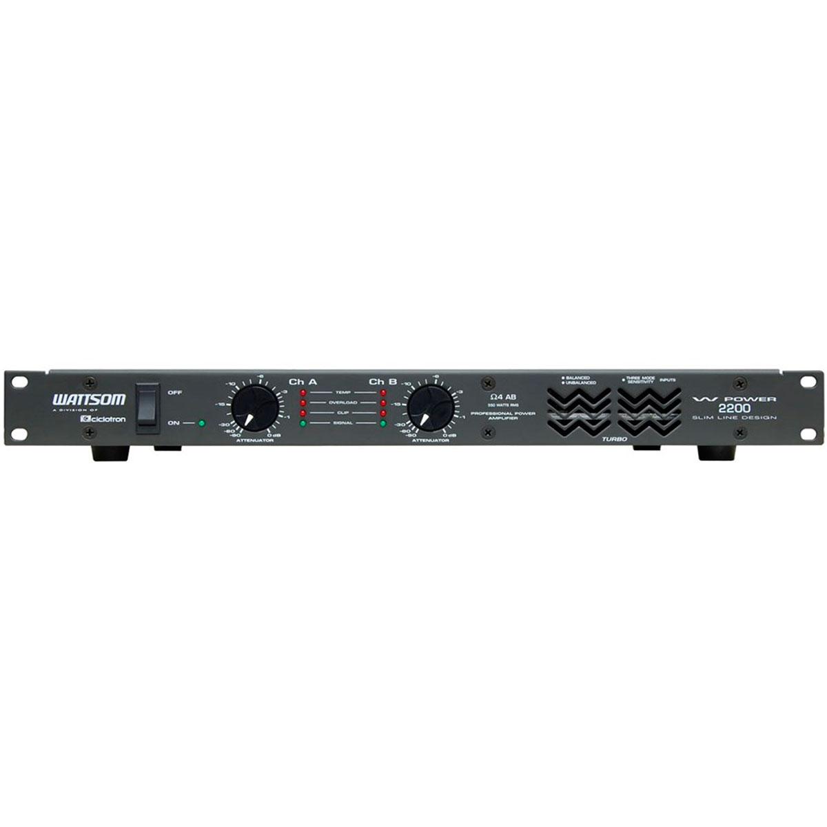 WPOWER2200 - Amplificador Estéreo 2 Canais 550W W POWER 2200 - Ciclotron