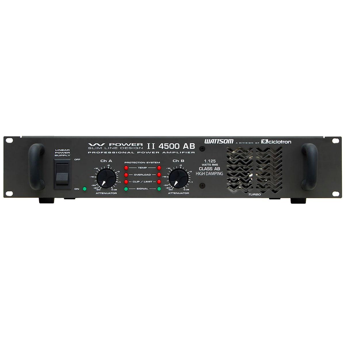 WPOWER4500 - Amplificador Estéreo 2 Canais 1125W W POWER 4500 - Ciclotron