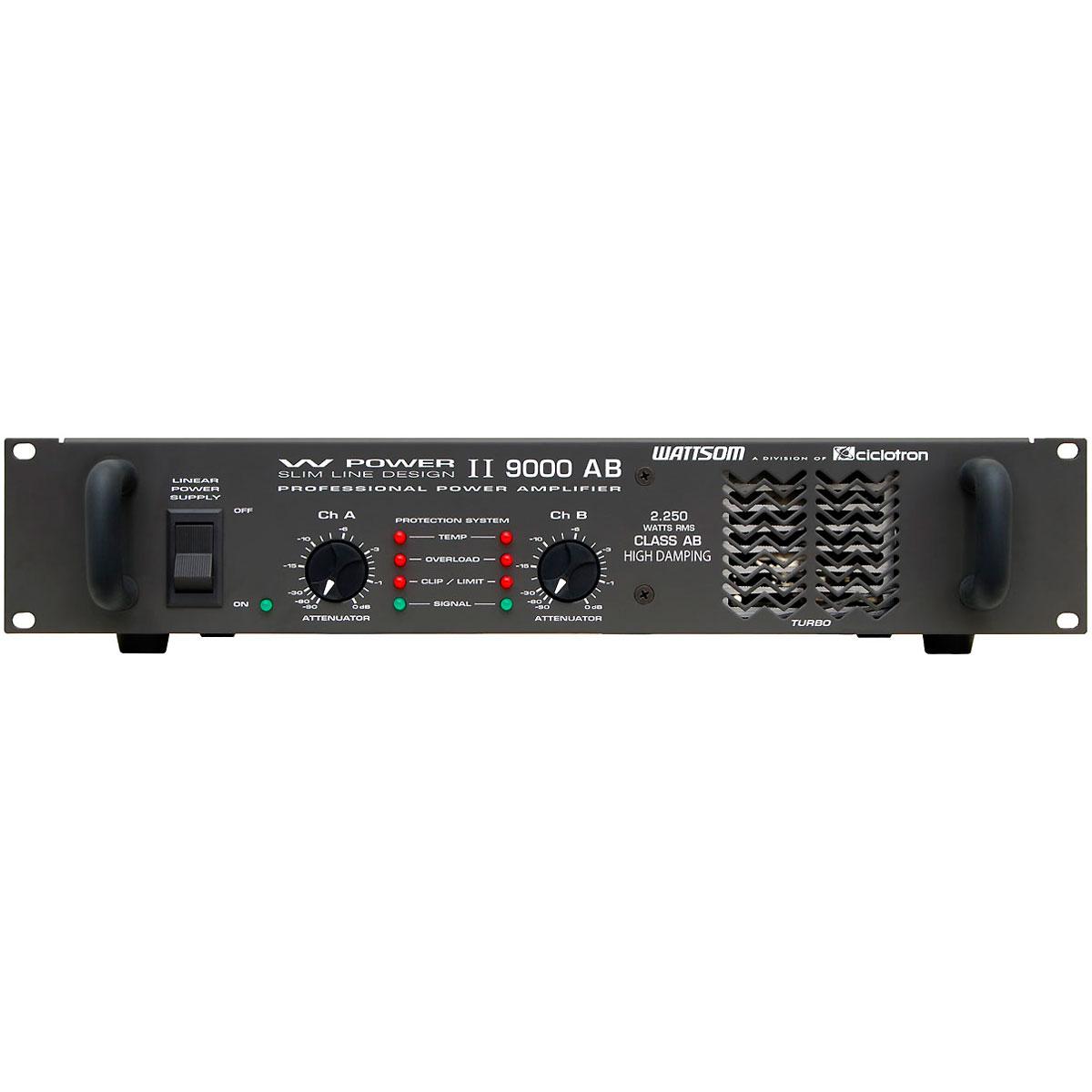WPOWER9000 - Amplificador Estéreo 2 Canais 2250W W POWER 9000 - Ciclotron