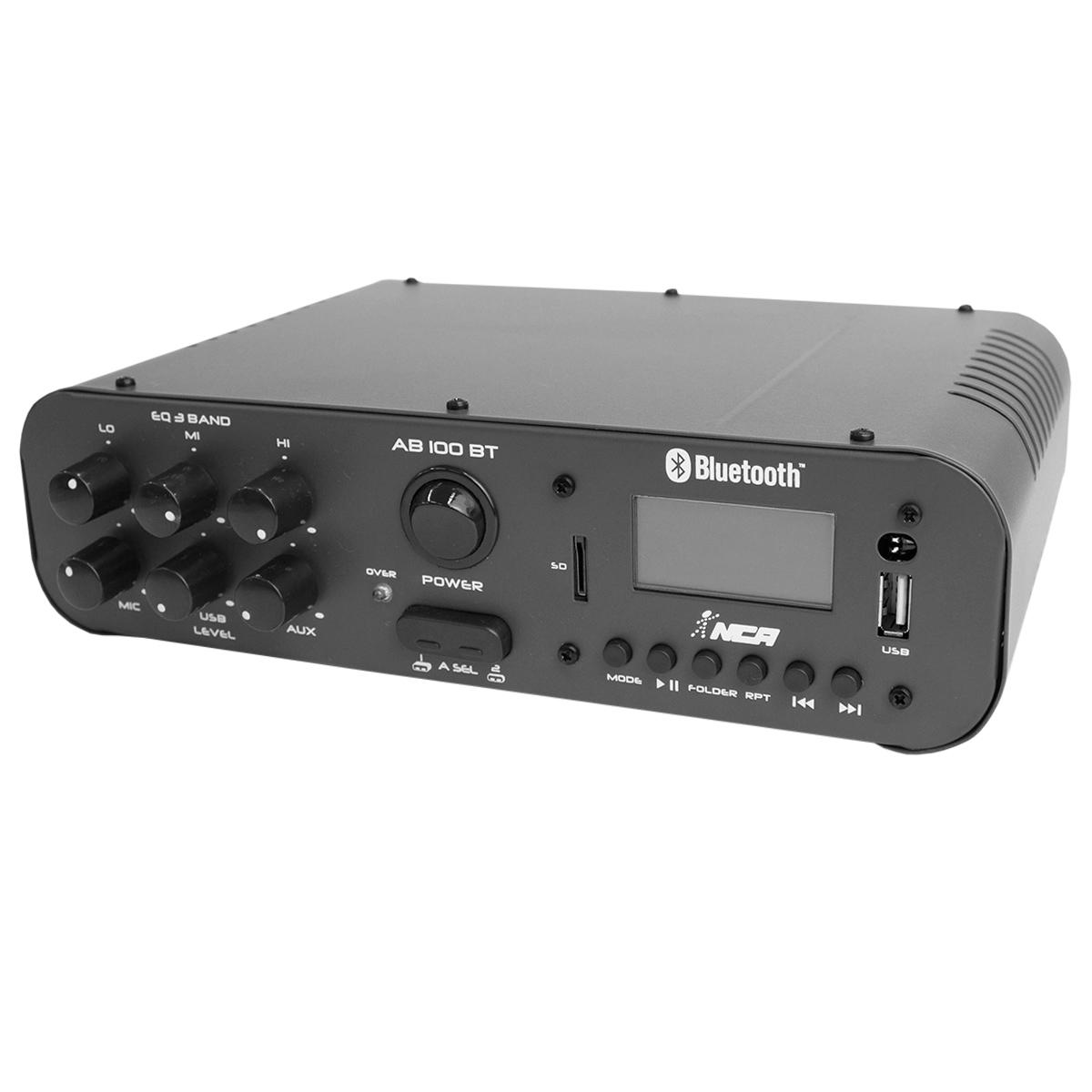 AB100BT - Amplificador Som Ambiente c/ Bluetooth 100W AB 100 BT - NCA