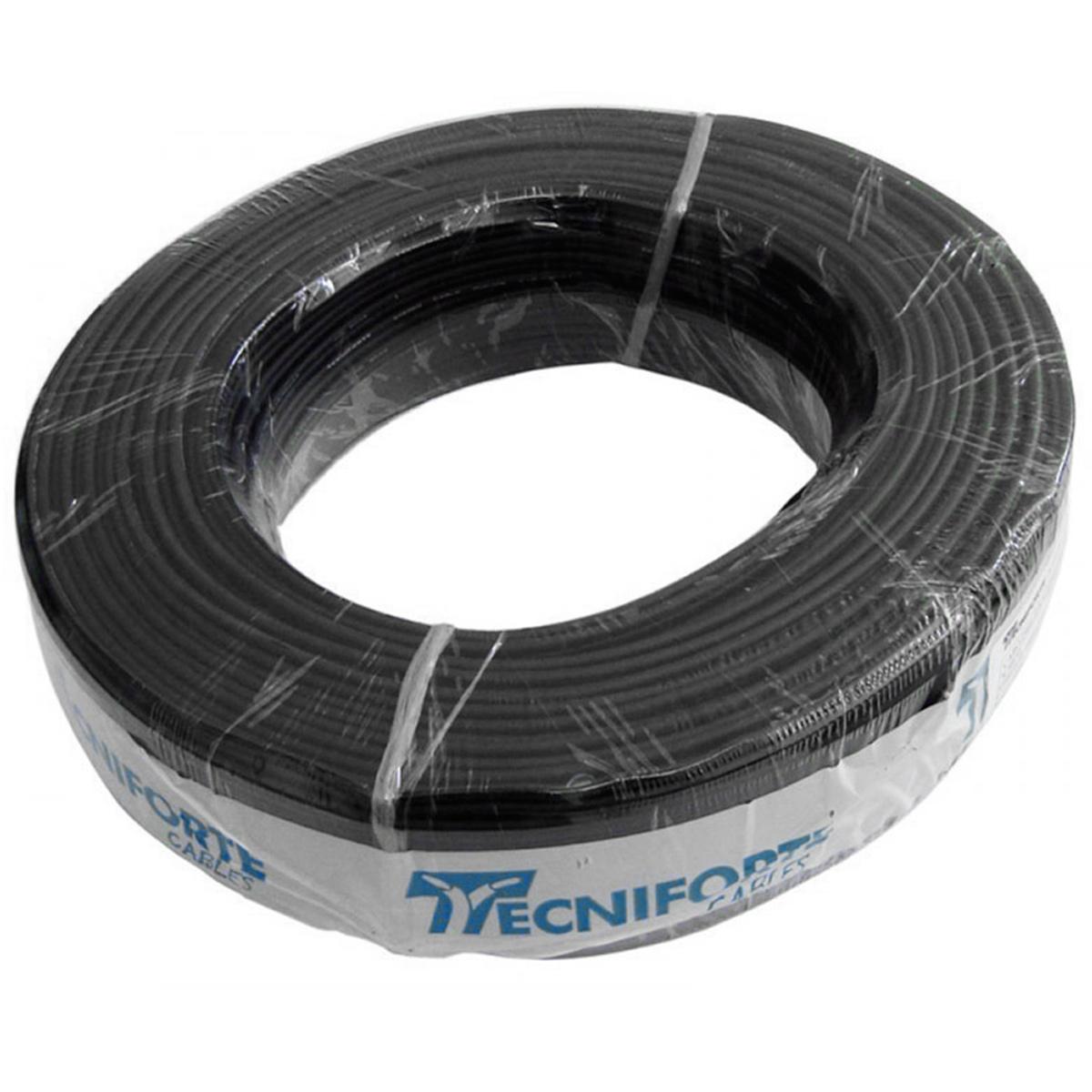 Cabo Emborrachado Paralelo PP 2x2,5mm (Rolo de 100 Metros) p/ Caixas de Som - Tecniforte