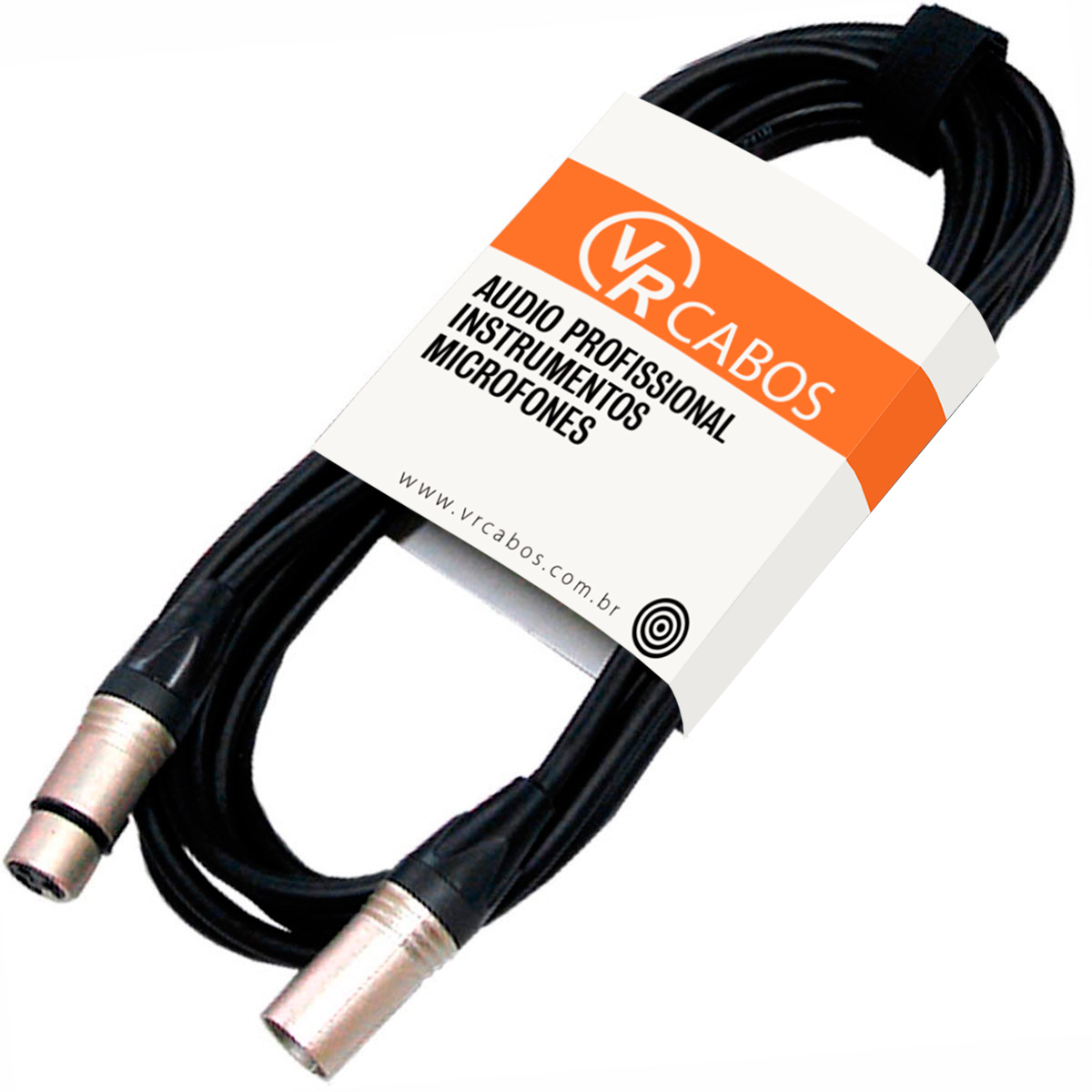 Cabo Emborrachado p/ Microfone 03Mt XLR M / XLR F Balanceado - VR CABOS