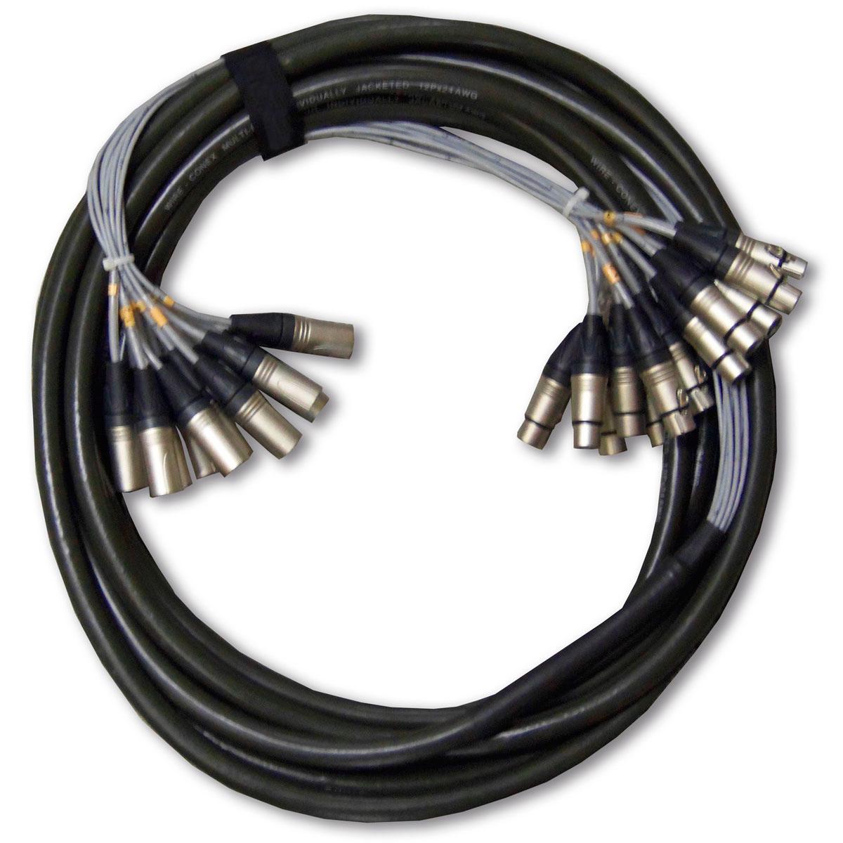Multicabo 12 Vias XLR ( Balanceado ) p/ Bateria 10 Metros - VR Cabos