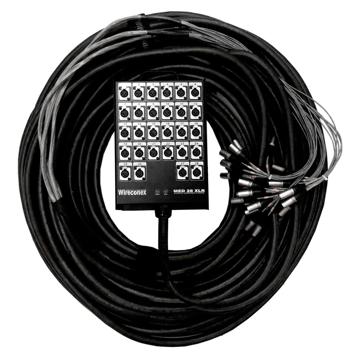 Multicabo Completo 28 Vias XLR ( Balanceado ) c/ Trava 15mts - VR CABOS