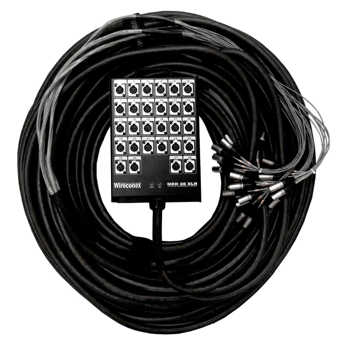 Multicabo Completo 28 Vias XLR ( Balanceado ) c/ Trava 45mts - VR CABOS