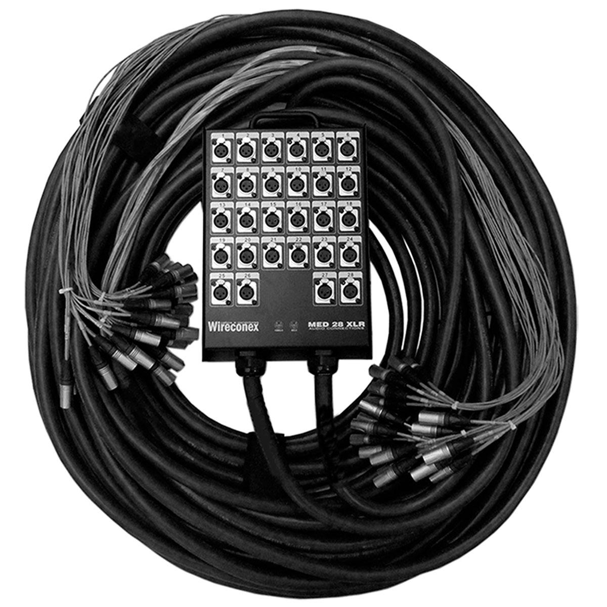 Multicabo Completo Spliter 28 Vias XLR M / XLR F 40MT x 10MT - VR CABOS