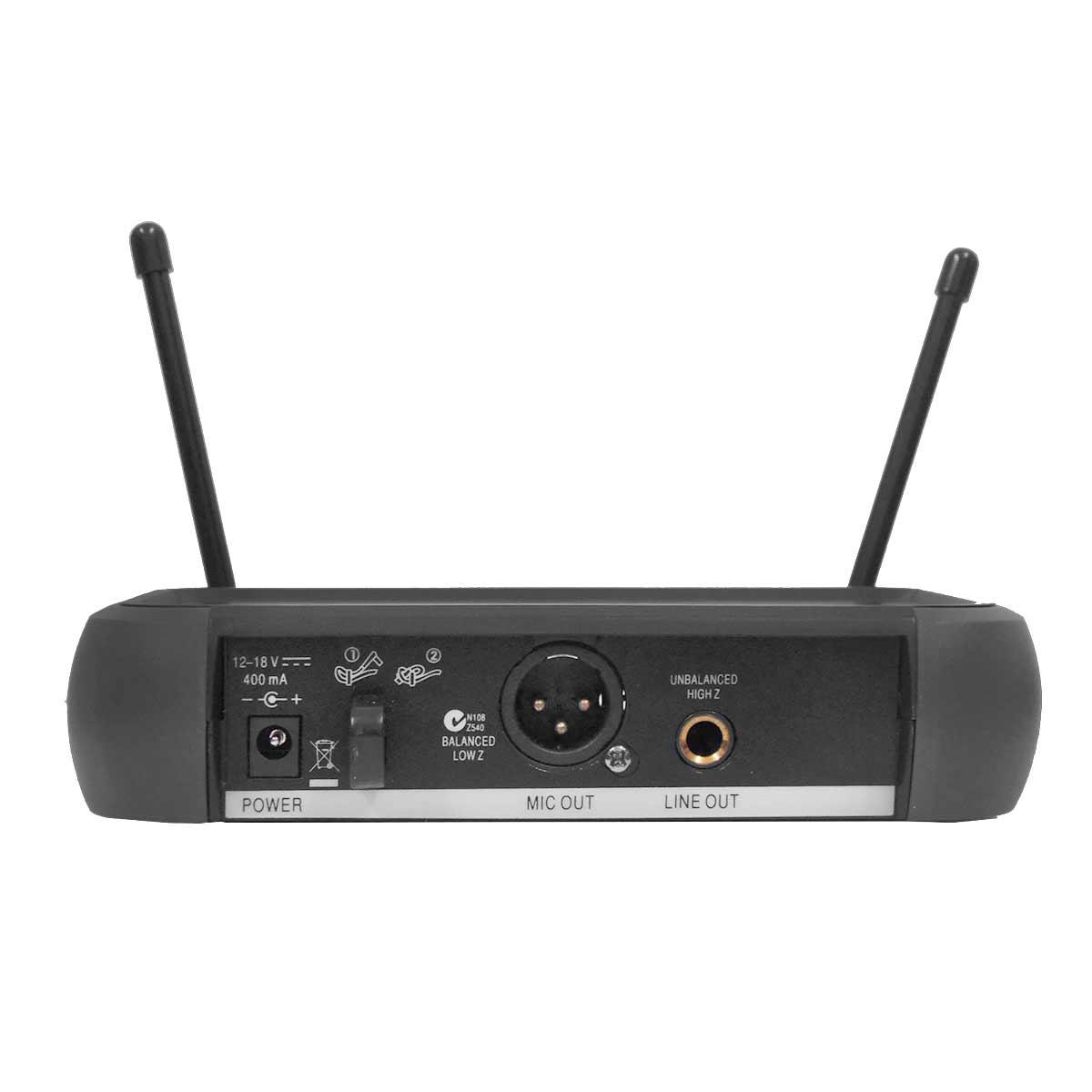 VH202PROMHL - Microfone s/ Fio Mão, Headset e Lapela VH 202 PRO MHL - Lyco