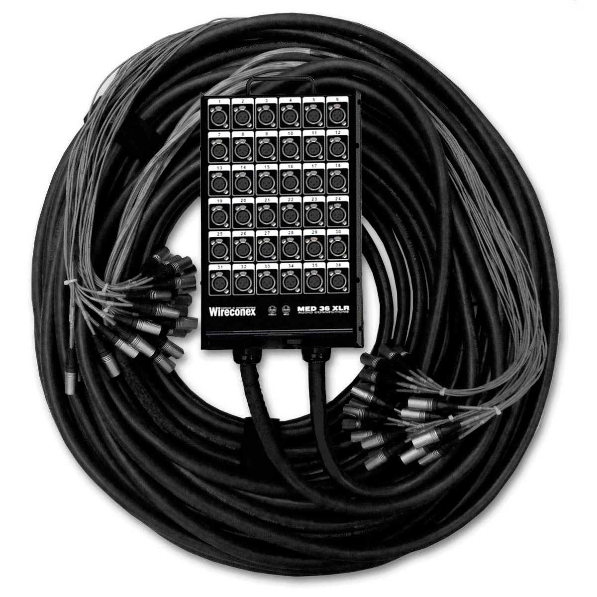 Multicabo Spliter 36 Vias XLR c/ Trava 40mts x 10mts - VR CABOS