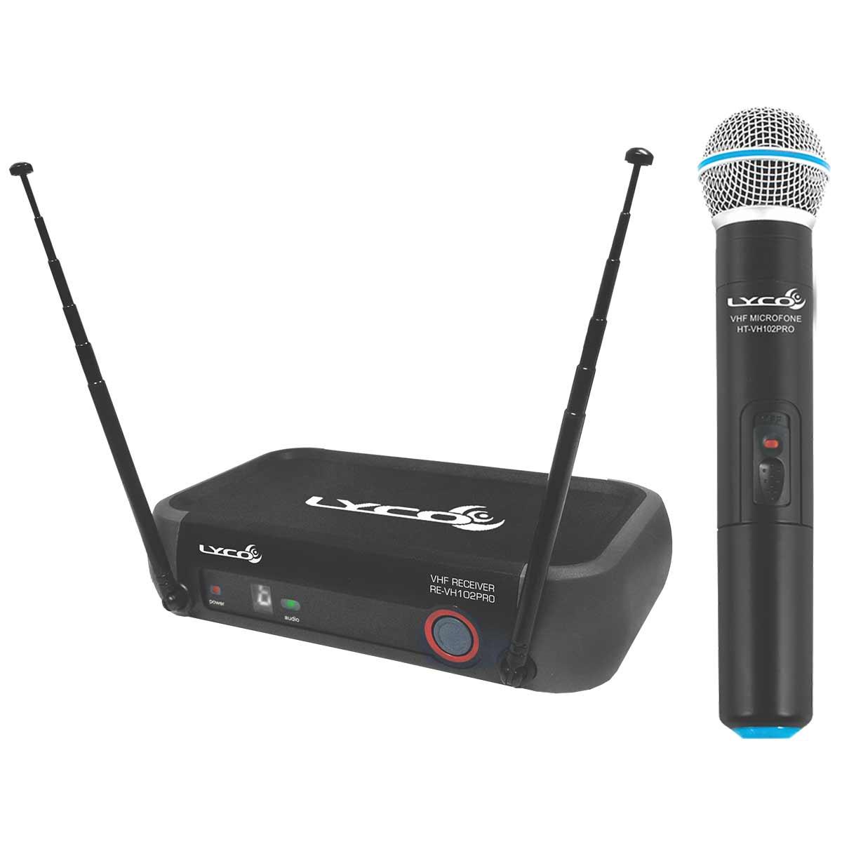 VH102PROM - Microfone s/ Fio de Mão VHF VH 102 PRO M - Lyco
