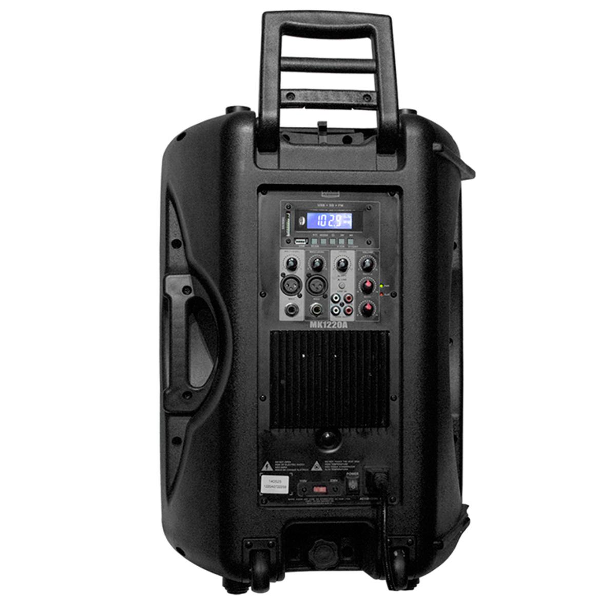 MK1220A - Caixa Ativa 200W c/ Player USB MK 1220 A - Mark Audio