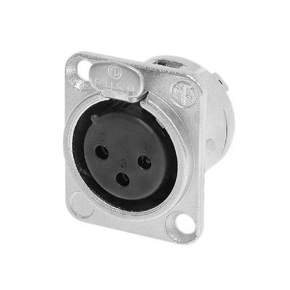 Conector XLR Fêmea Painel - NC 3 FD L1 Neutrik