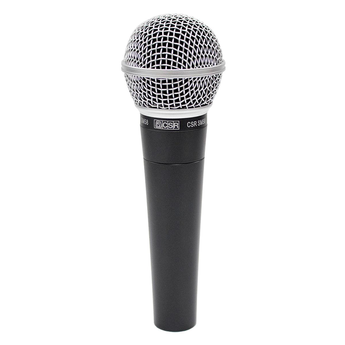 Microfone c/ Fio de Mão Dinâmico - SM 58 CSR