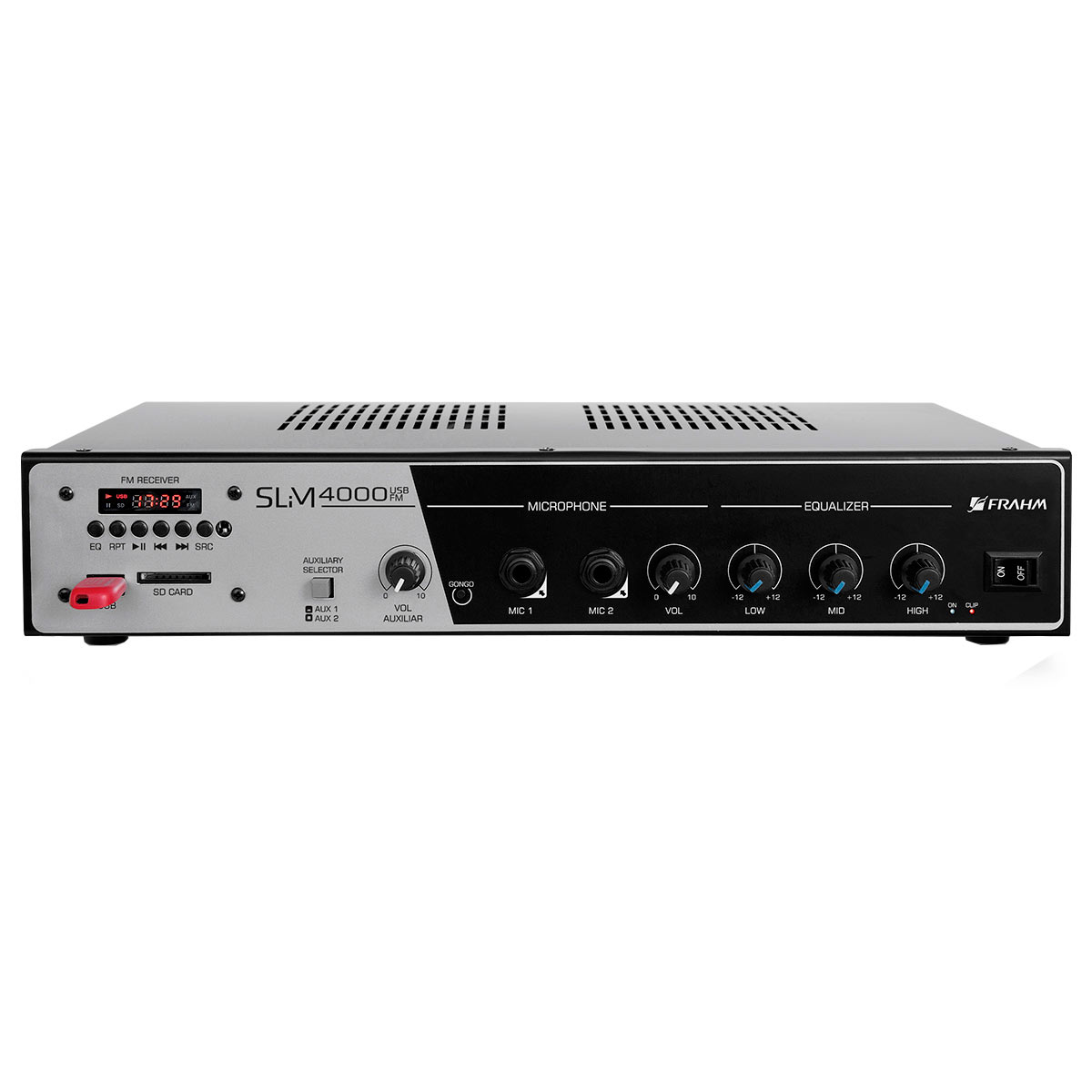 SLIM4000 - Amplificador Mono USB 400W SLIM 4000 - Frahm