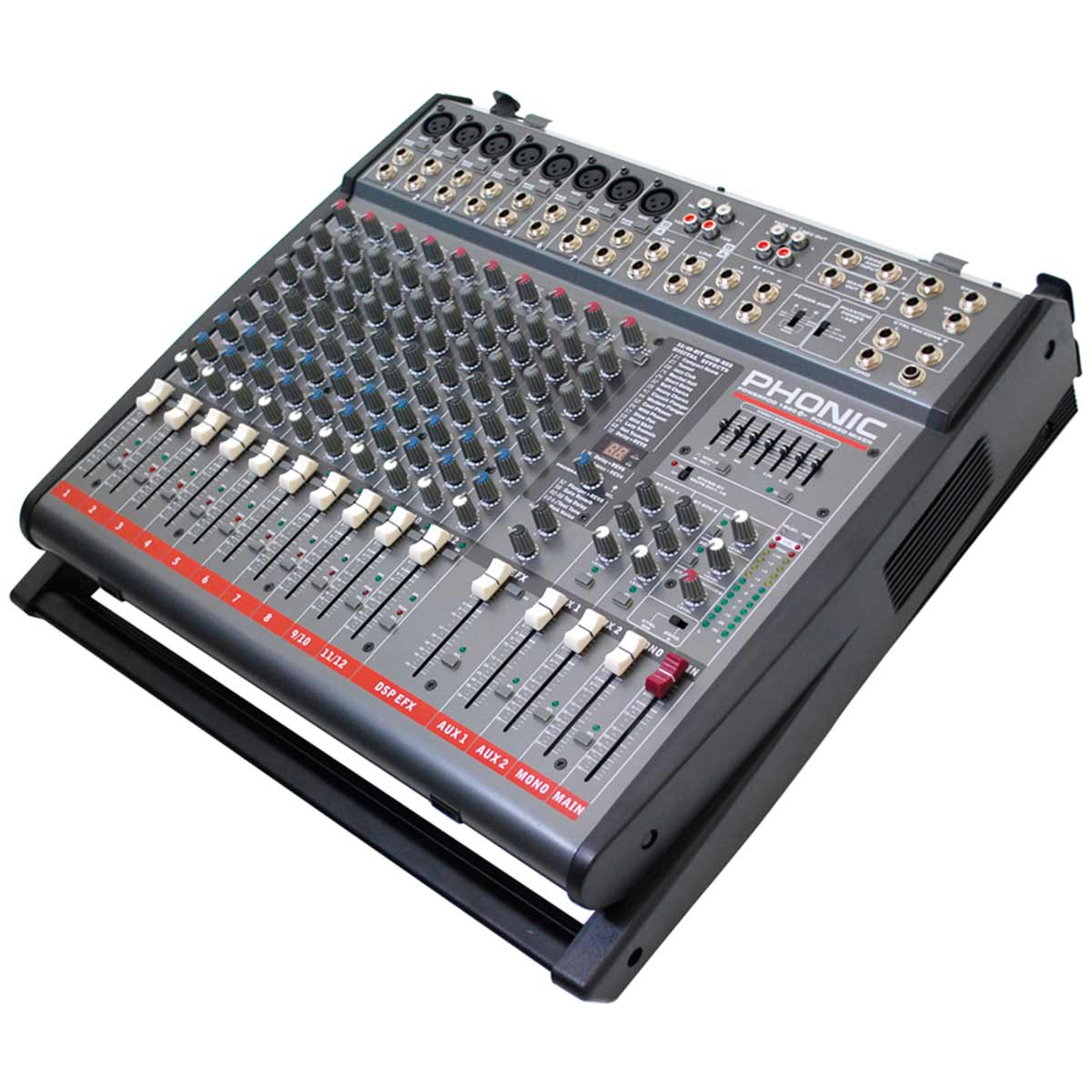 1860Plus - Mesa de Som / Mixer 12 Canais Powerpod 1860 Plus - Phonic