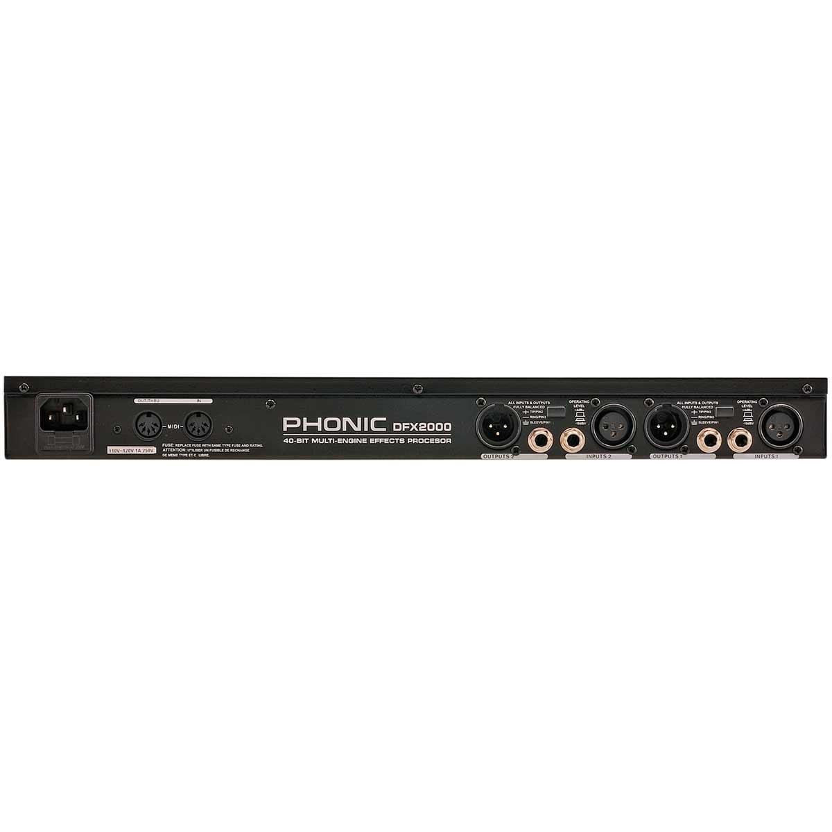 DFX2000 - Processador de Efeitos DFX 2000 - Phonic