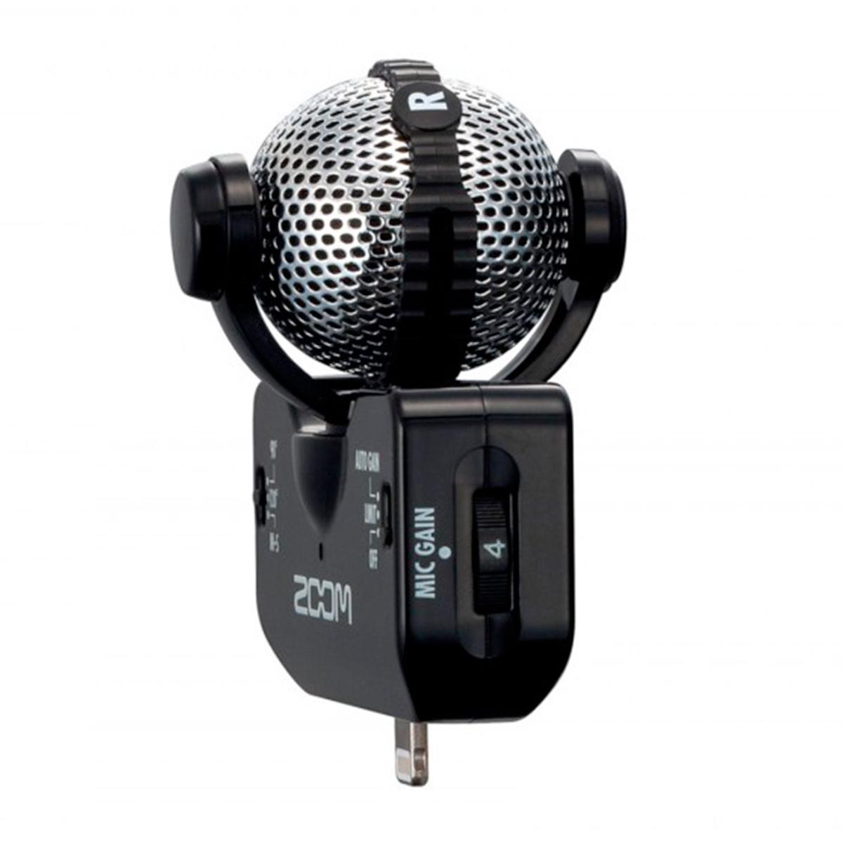 Microfone p/ iPhone e iPad iQ5 ( Preto ) Zoom