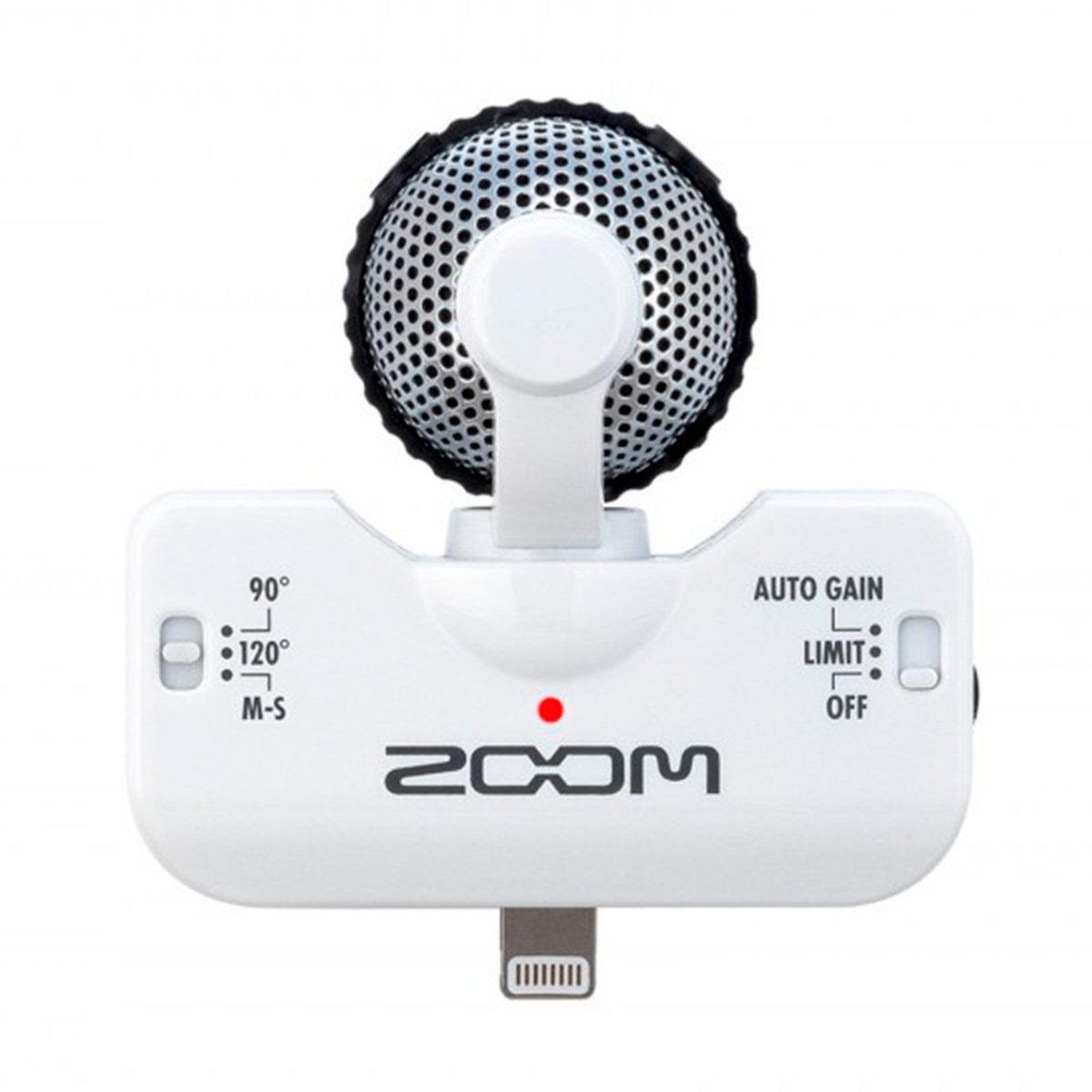Microfone p/ iPhone e iPad iQ5 ( Branco ) Zoom