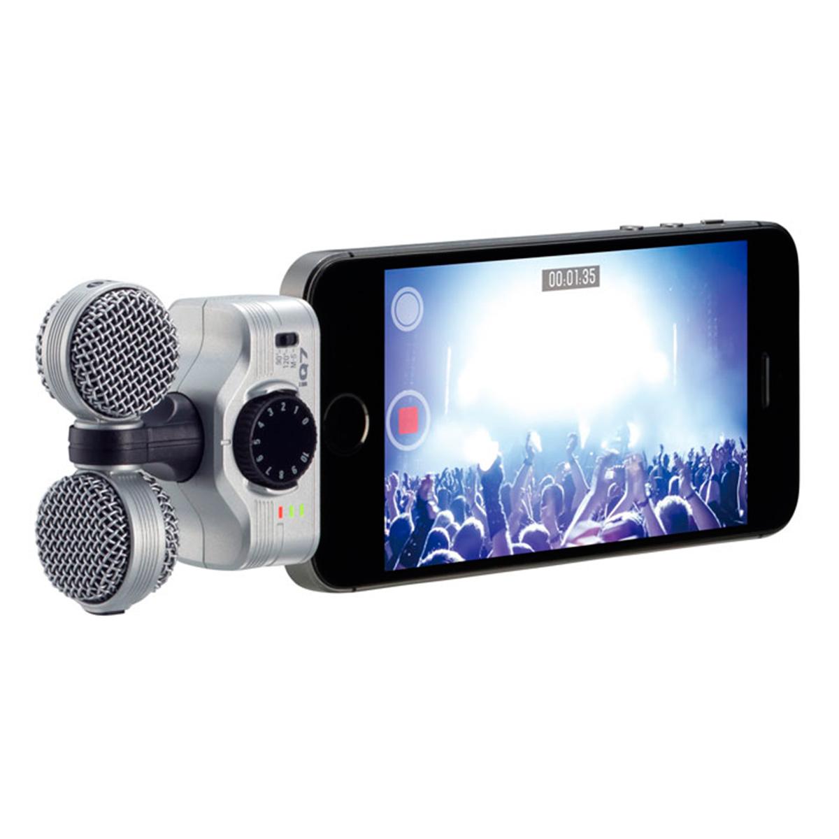Microfone p/ iPhone e iPad iQ7 Zoom