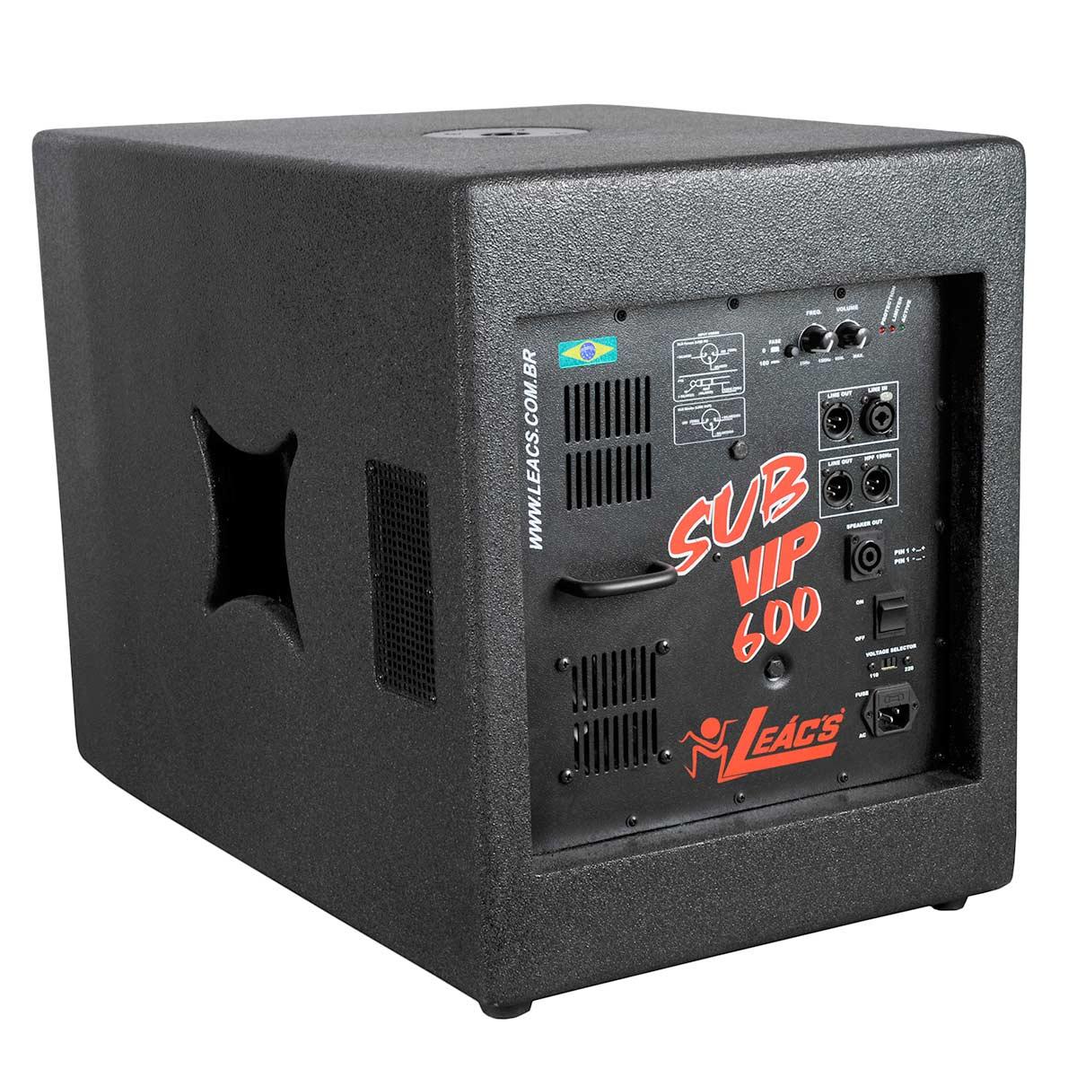 VIP600 - Subwoofer Ativo 600W VIP 600 - Leacs