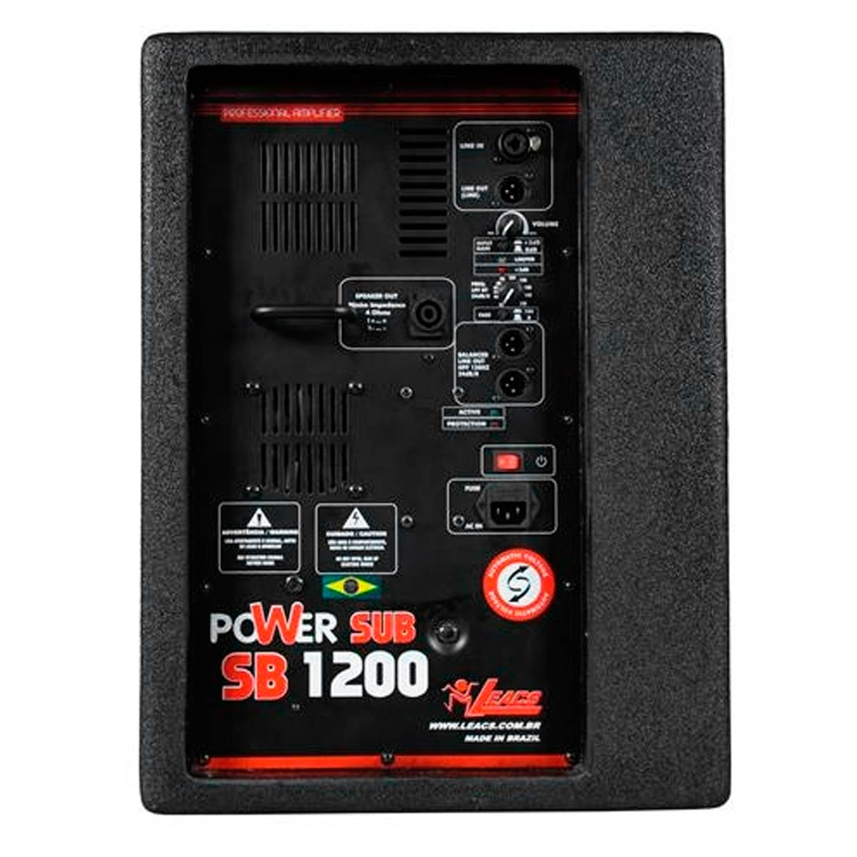 SB1200 - Subwoofer Ativo 600W SB 1200 - Leacs