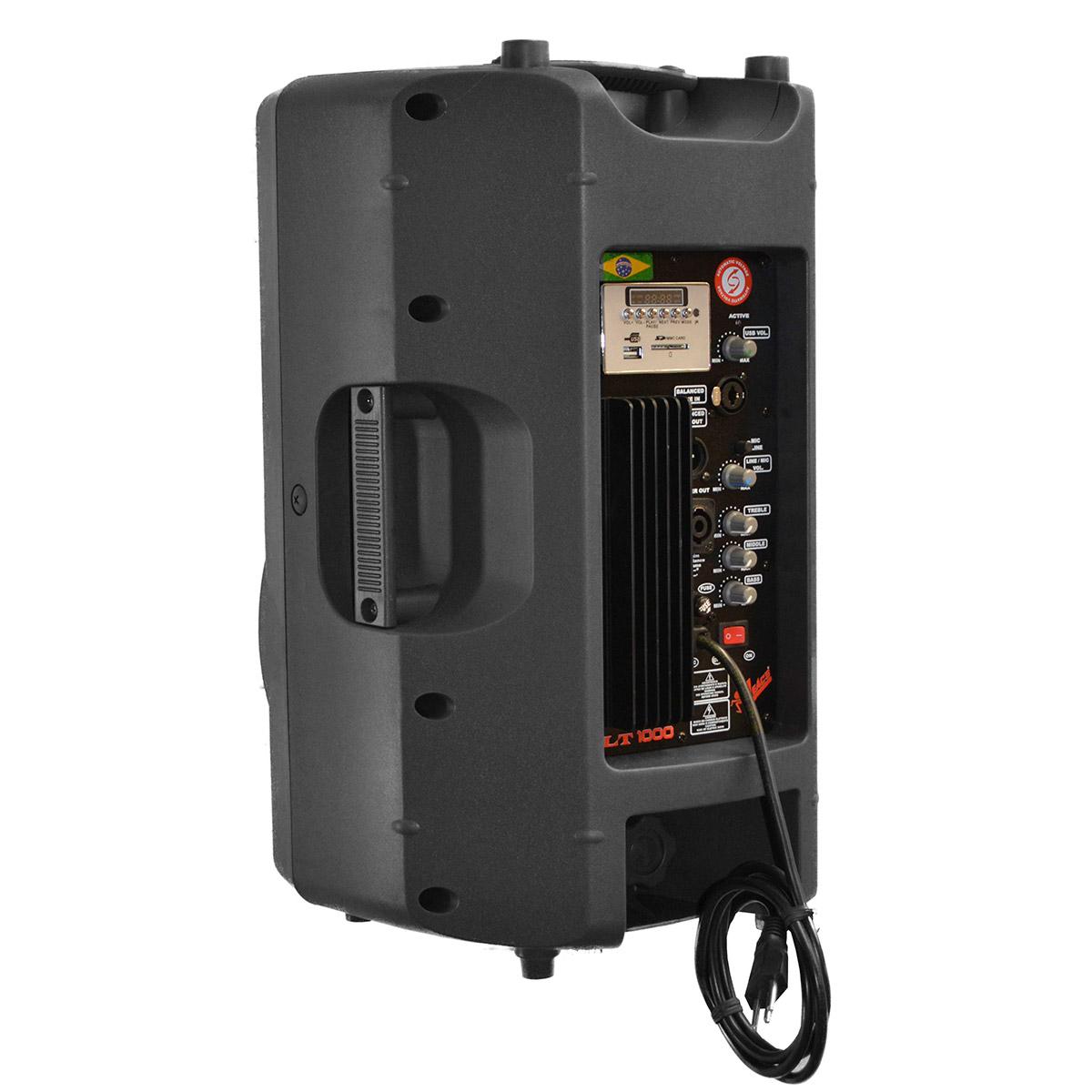LT1000 - Caixa Ativa 150W c/ Player USB LT 1000 - Leacs