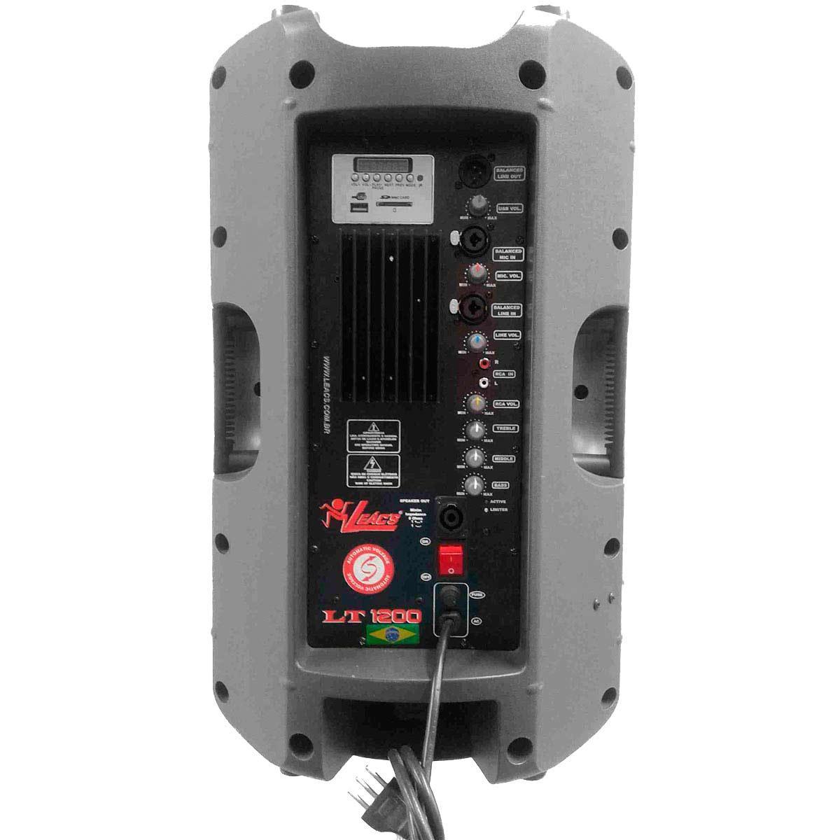Caixa Ativa Fal 12 Pol 300W c/ USB - LT 1200 Leacs