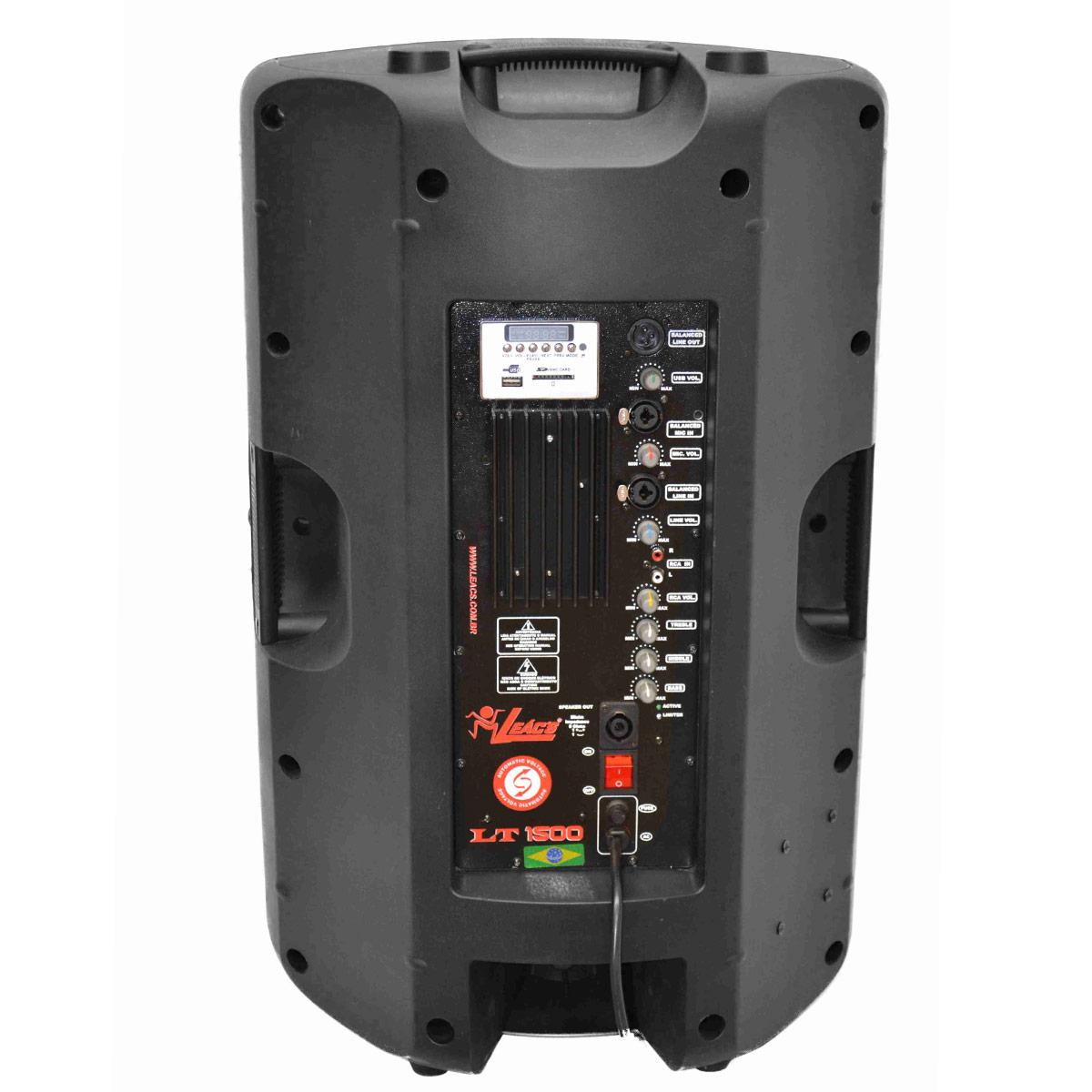 LT1500 - Caixa Ativa 300W c/ Player USB LT 1500 - Leacs