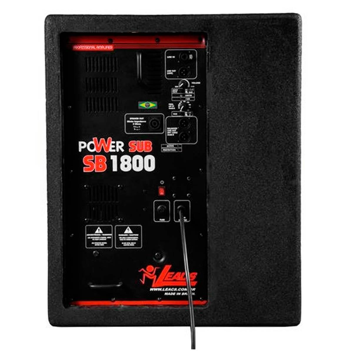 SB1800 - Subwoofer Ativo 1500W SB 1800 - Leacs