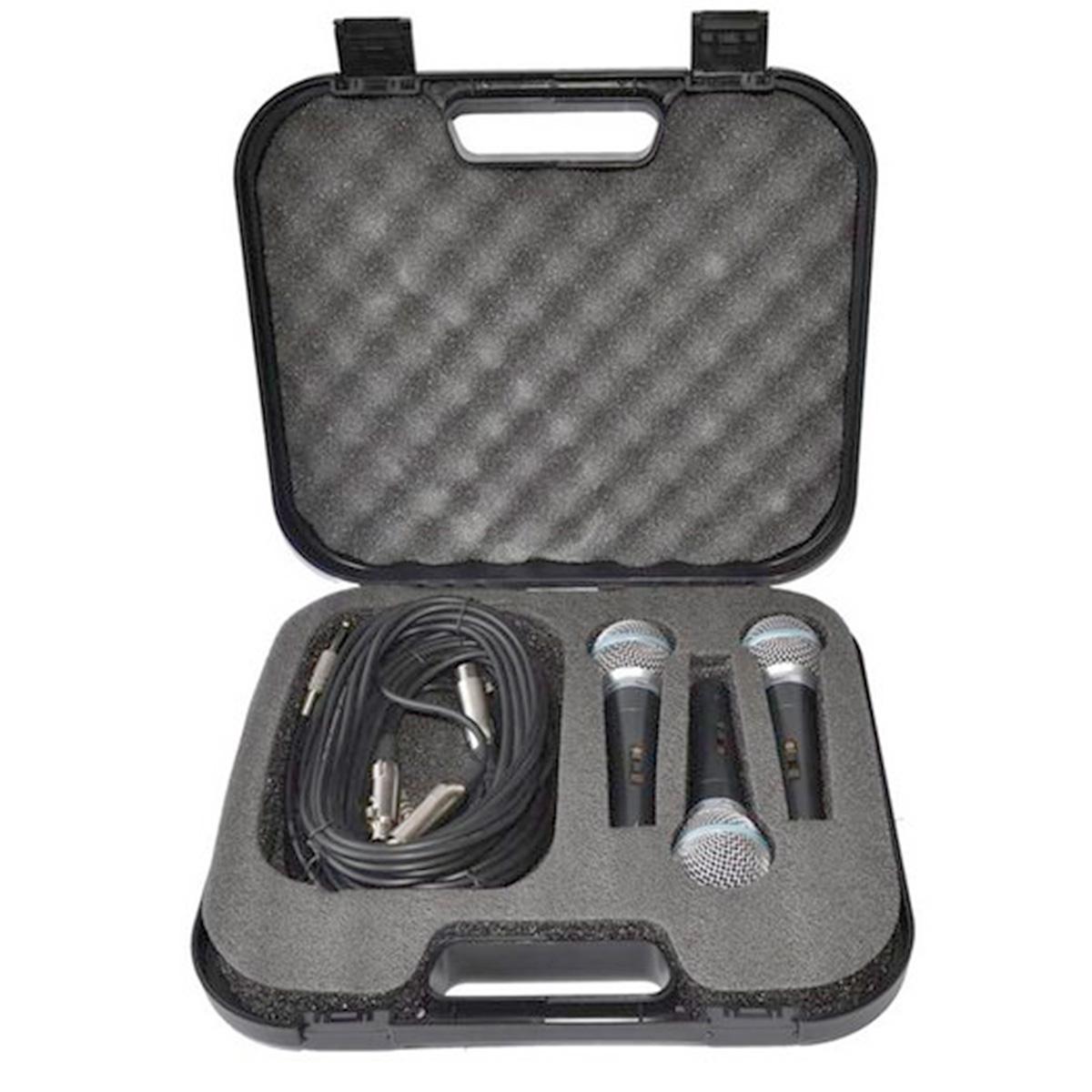 LC59 - Kit 3 Microfones c/ Fio de Mão LC 59 - Leacs
