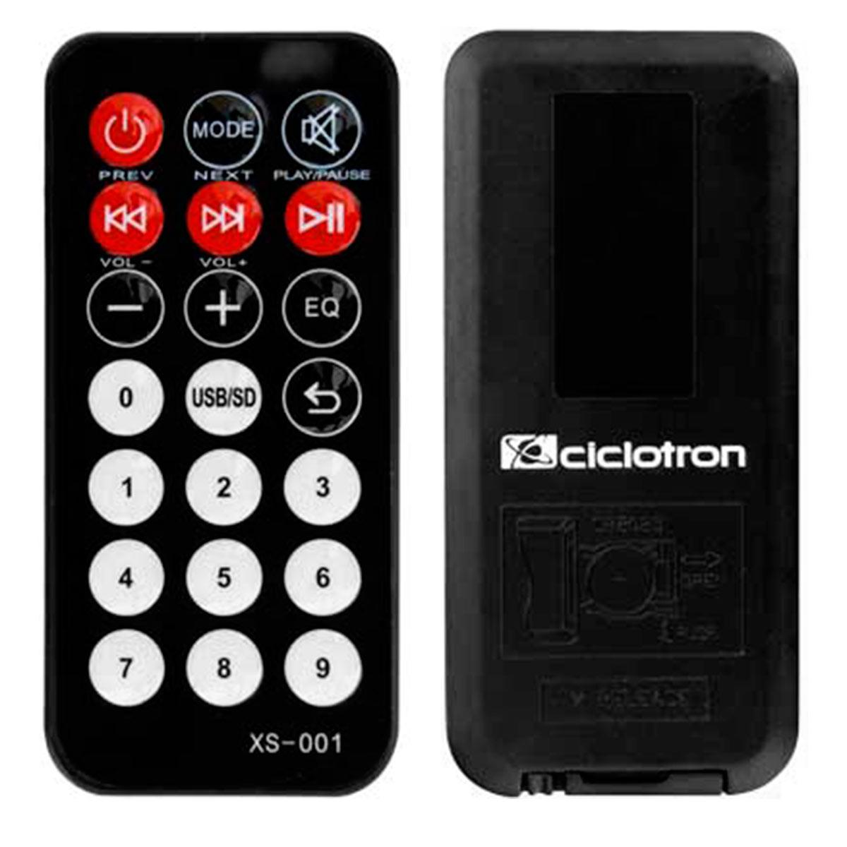 Mesa de Som 8 Canais (6 P10 Desbalanceados + RCA) c/ USB Play / Efeito / 2 Auxiliares - AMW 8 ESD Ciclotron