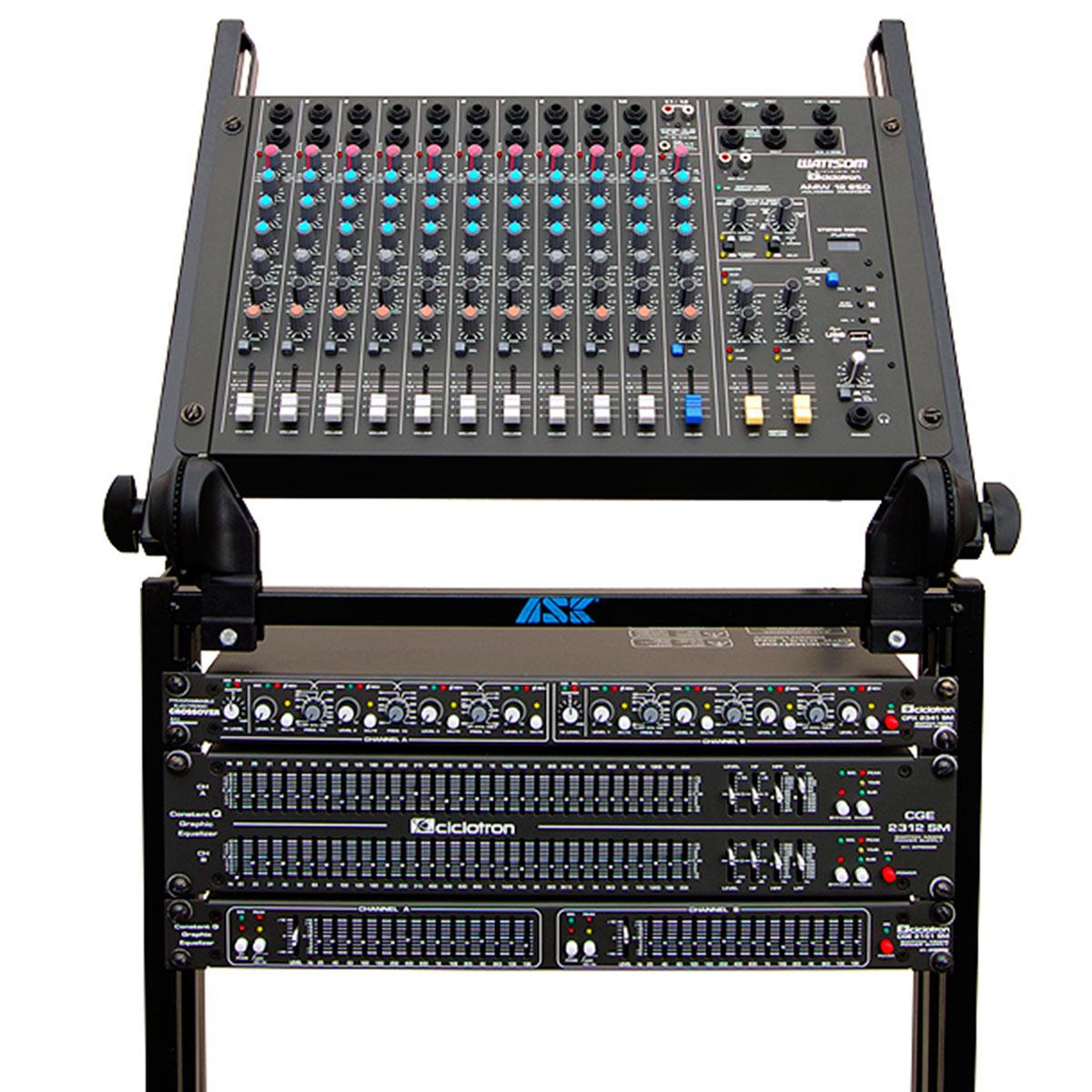 AMW12ESD - Mesa de Som / Mixer 12 Canais USB AMW 12 ESD - Ciclotron