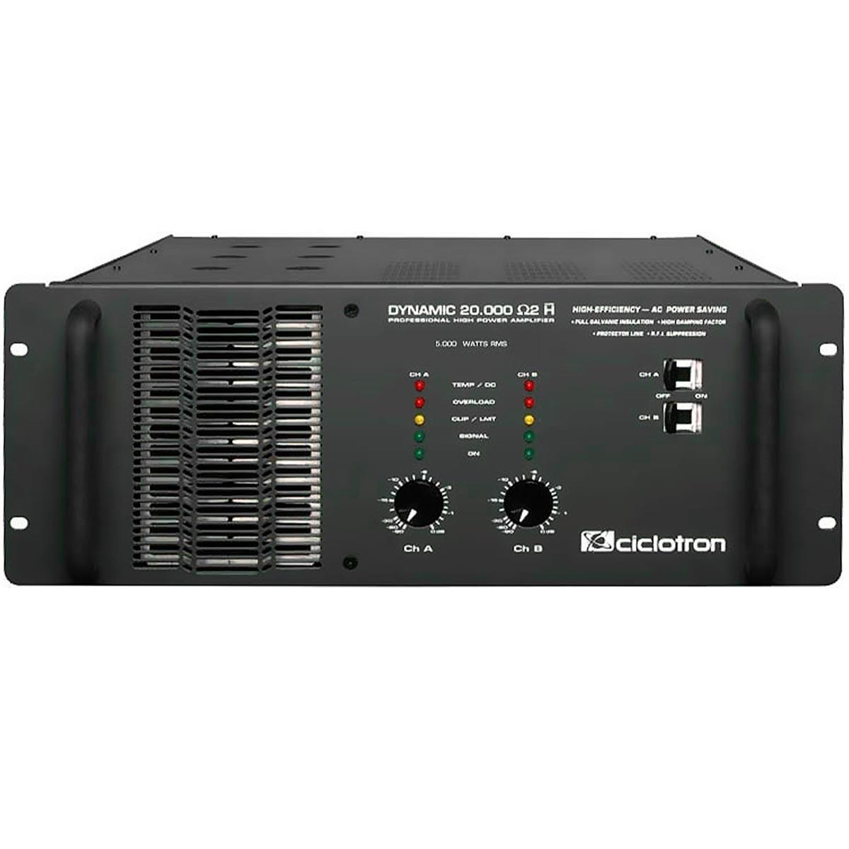 Dynamic20000 - Amplificador Est�reo 2 Canais 5000W Dynamic 20000 - Ciclotron