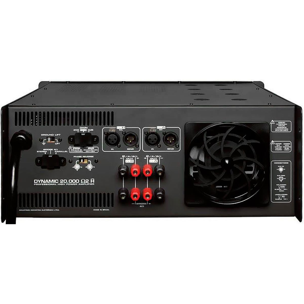 Dynamic20000 - Amplificador Estéreo 2 Canais 5000W Dynamic 20000 - Ciclotron