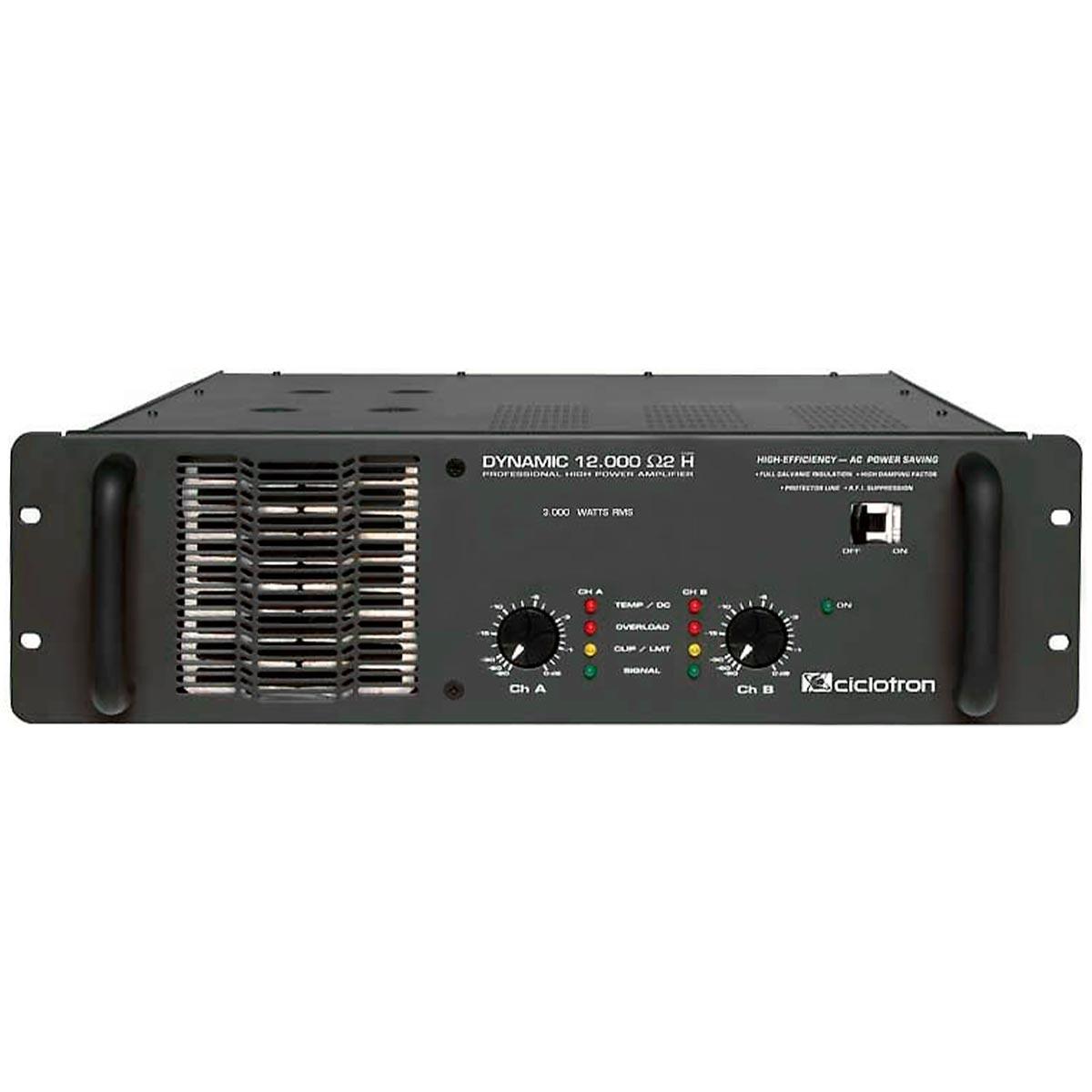 Dynamic12000 - Amplificador Est�reo 2 Canais 3000W Dynamic 12000 - Ciclotron