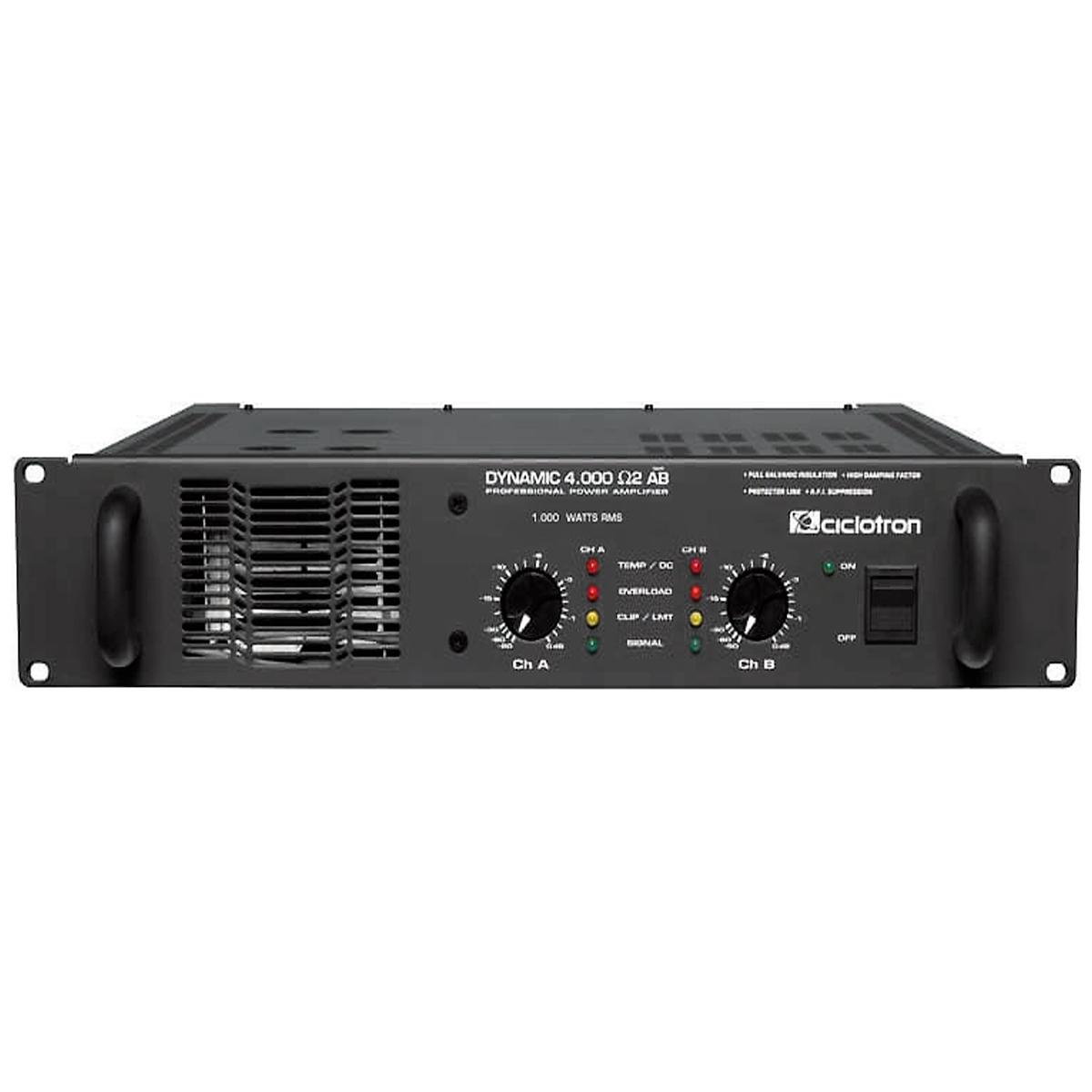 Dynamic4000 - Amplificador Estéreo 2 Canais 1000W Dynamic 4000 - Ciclotron