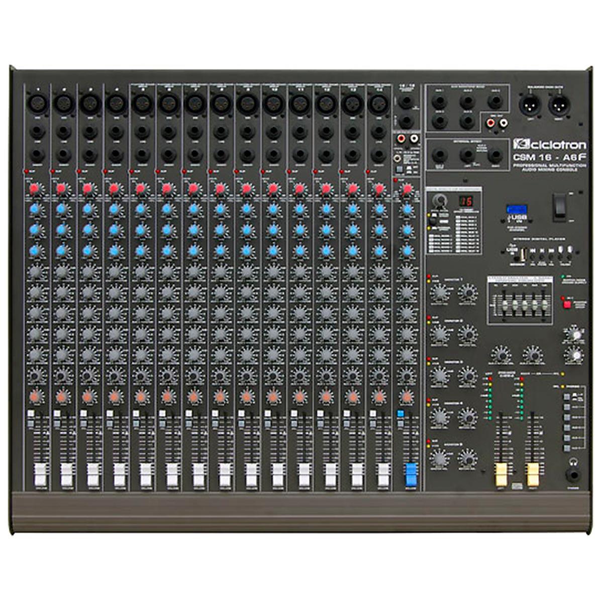 CSM16A6F - Mesa de Som / Mixer 16 Canais USB CSM 16 A 6 F - Ciclotron