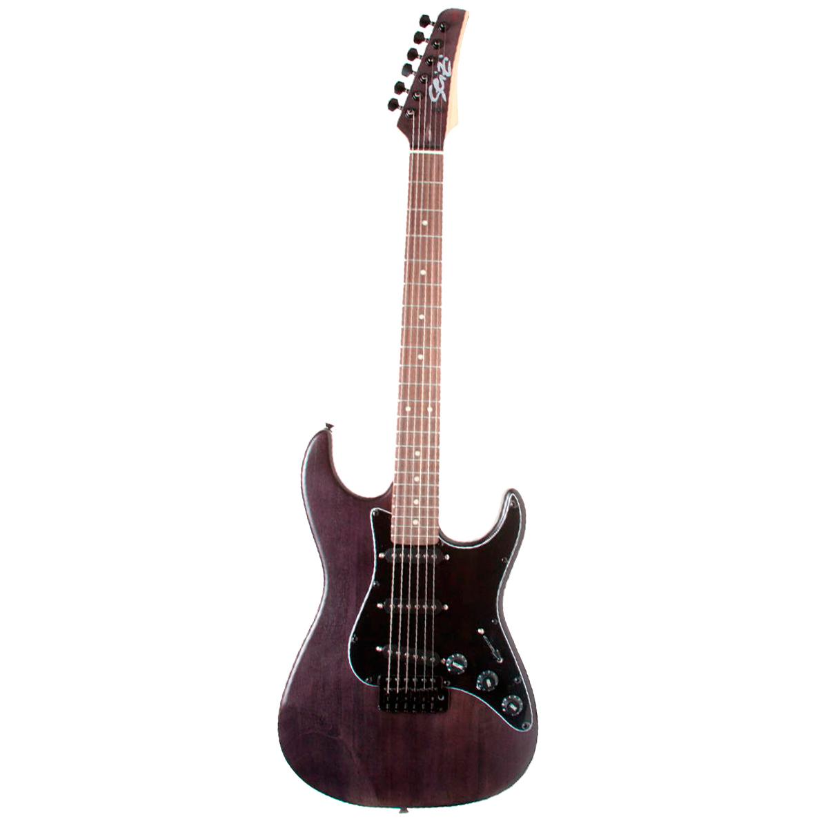 Guitarra Vision Satin Black c/ Escudo Preto - Seizi