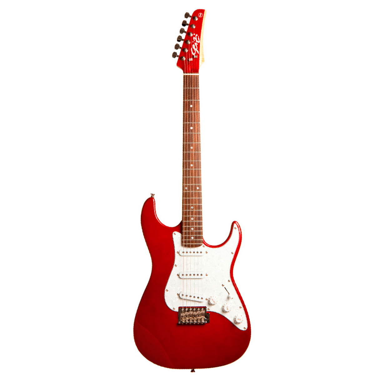 Guitarra Vision Metallic Red c/ Escudo Branco Perolado - Seizi