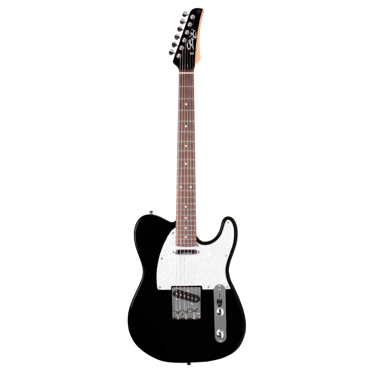 Guitarra Television Metallic Black Seizi c/ Escudo Branco Perolado - Seizi