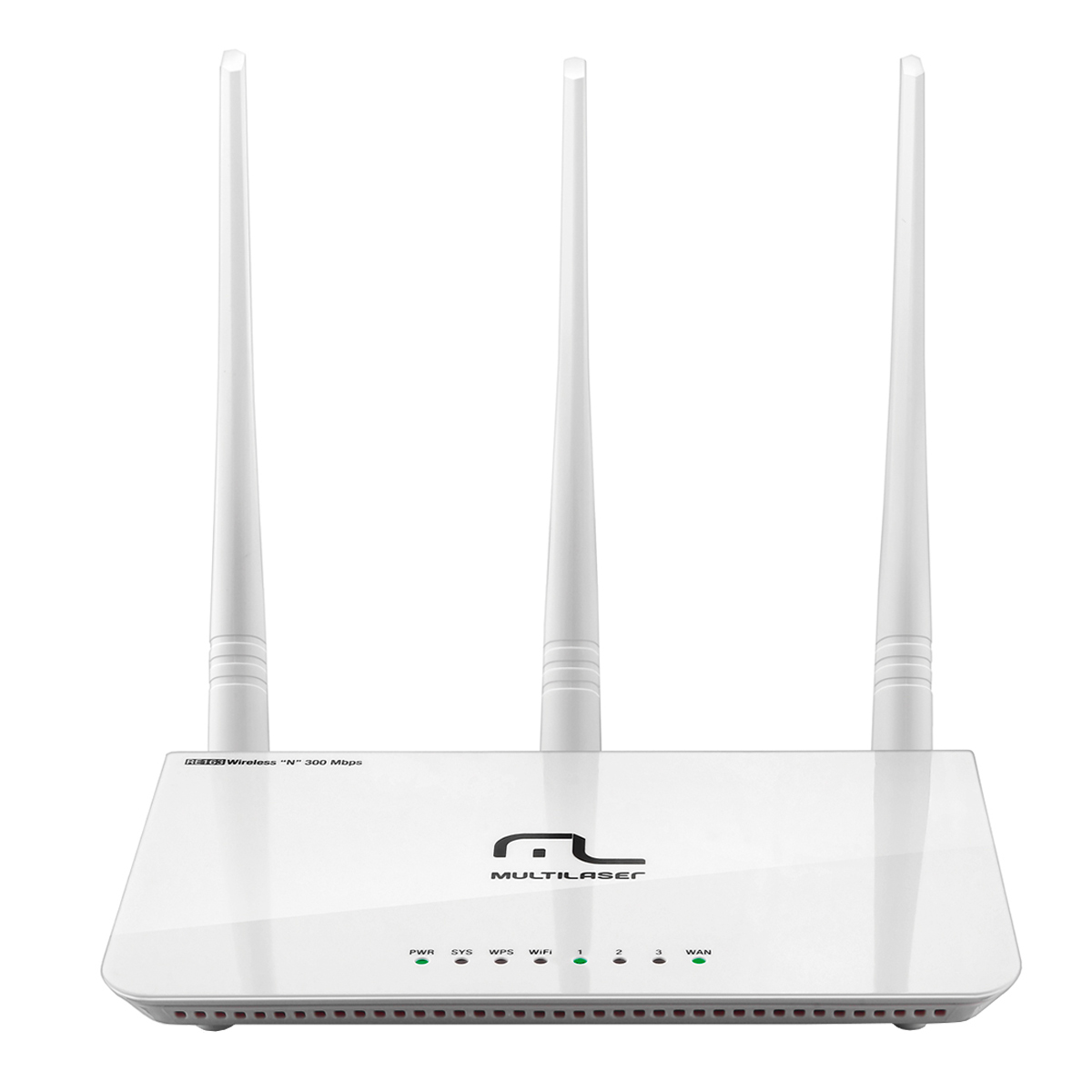 RE163 - Roteador Wireless 300Mbps 3 Antenas Re 163 - Multilaser
